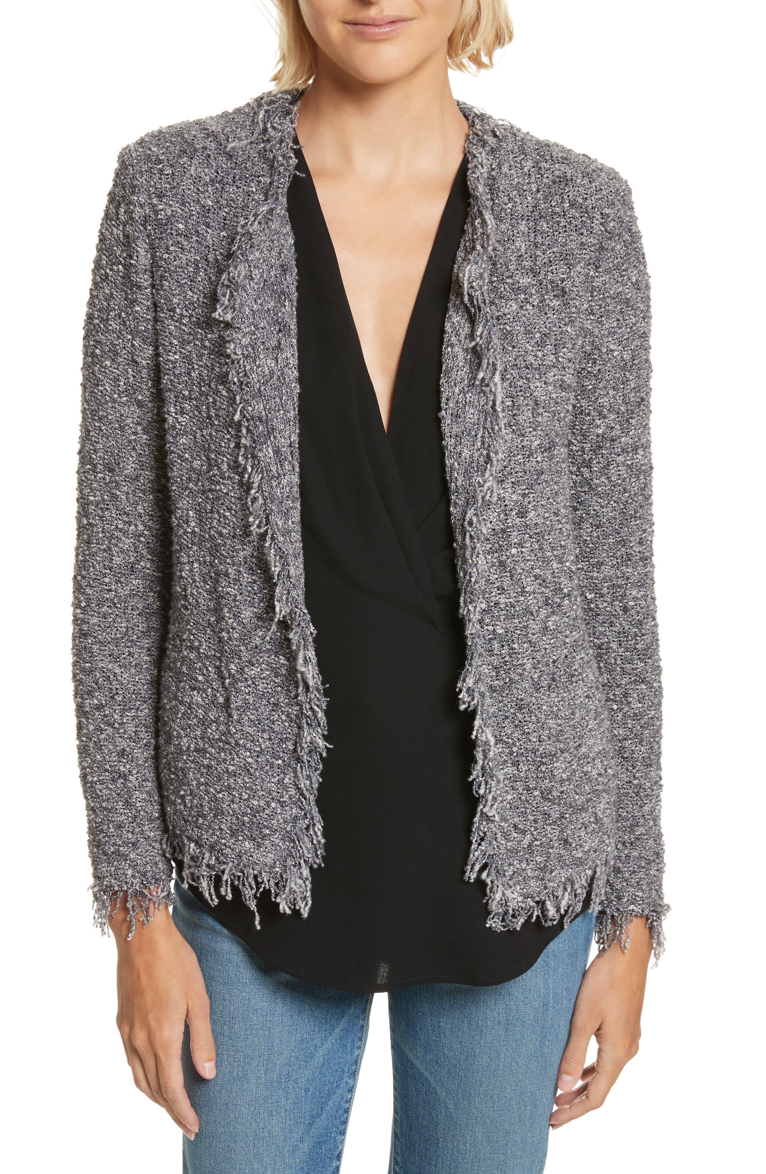 Shavanix Tweed Jacket,                         Main,                         color, Dark Grey