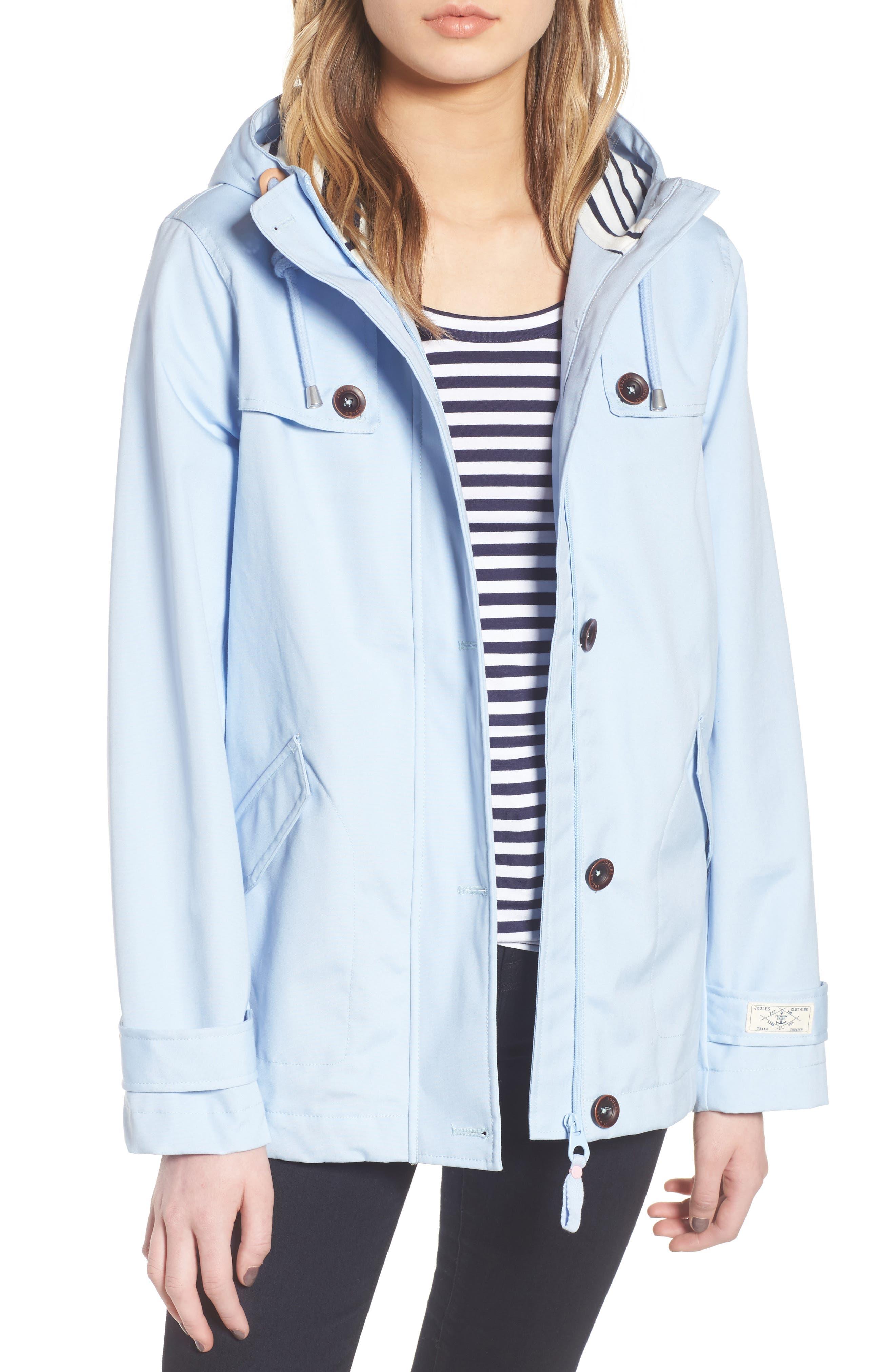 Right as Rain Waterproof Hooded Jacket,                         Main,                         color, Light Blue