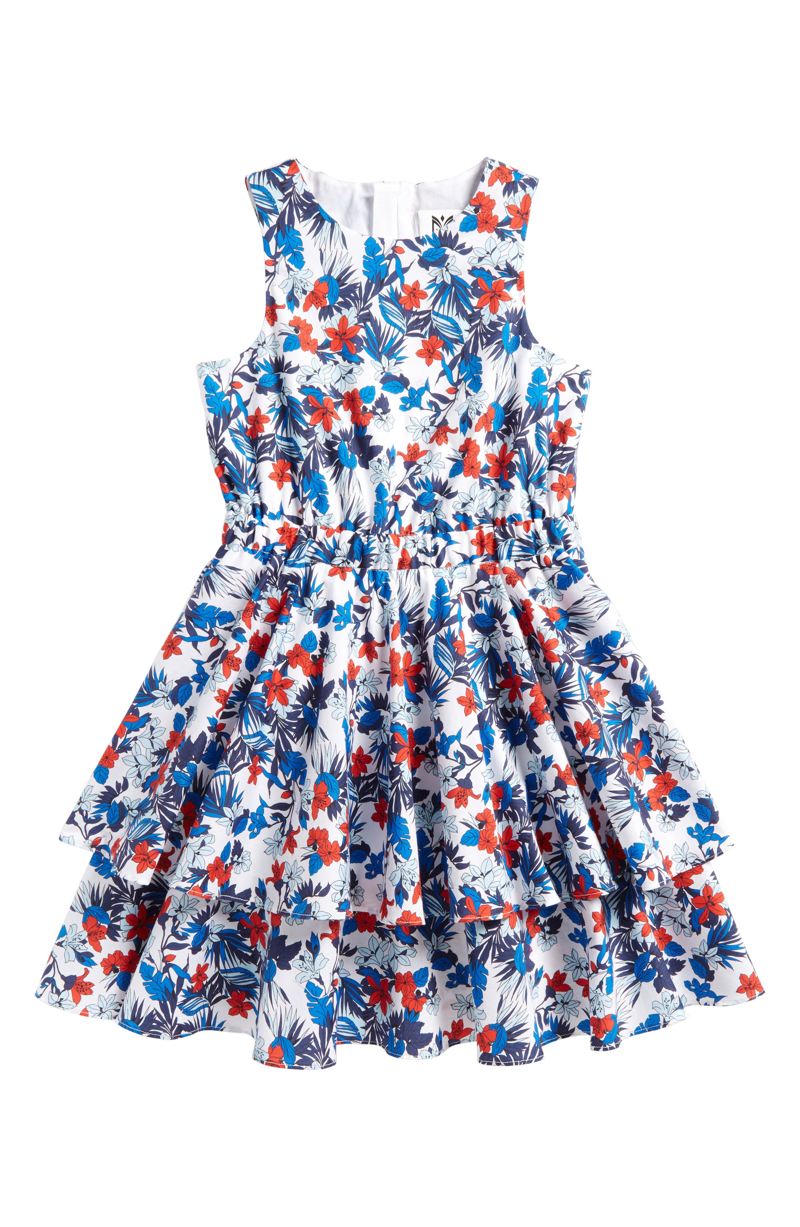 Whitney Dress,                         Main,                         color, Blue Multi