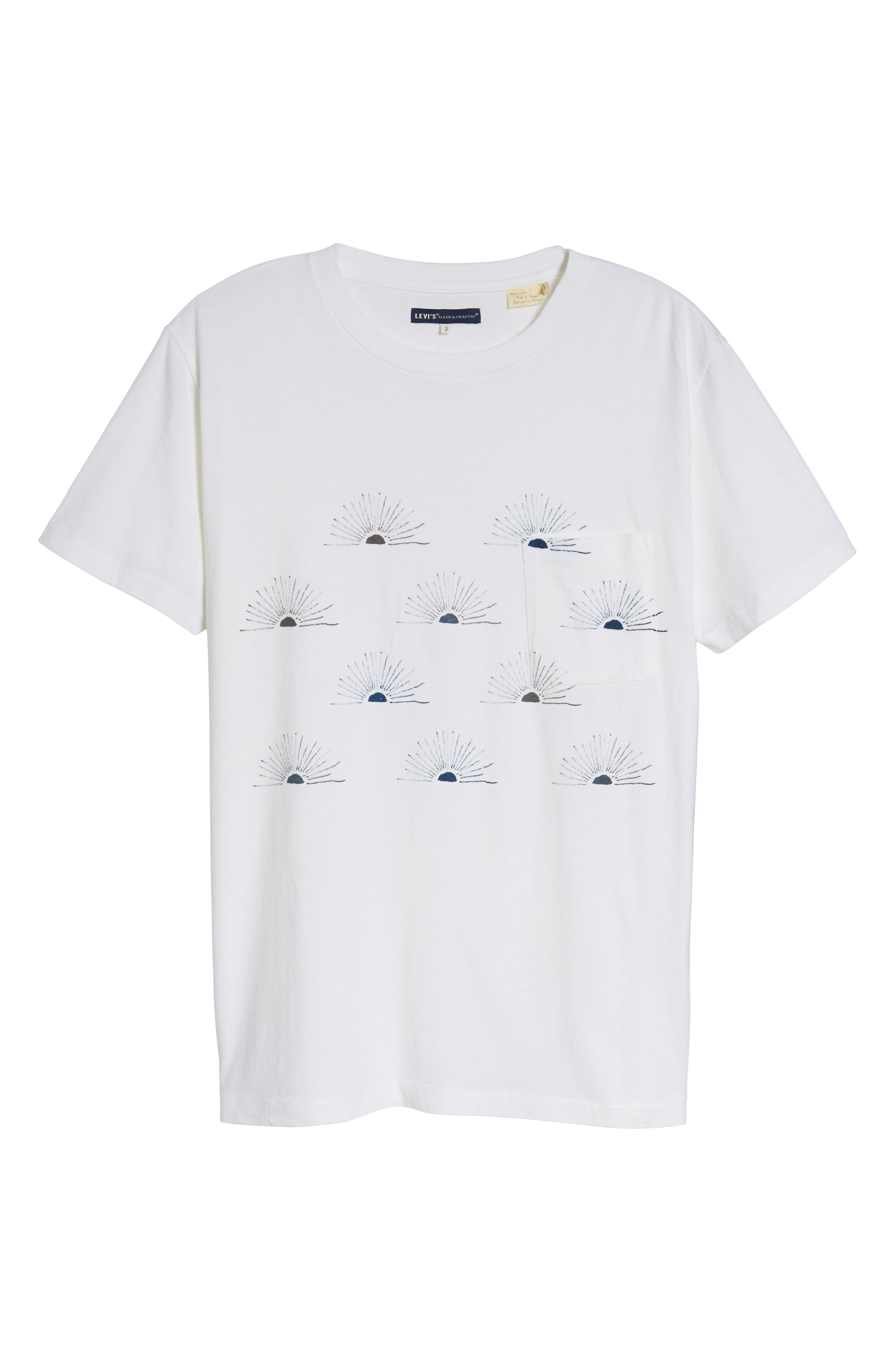Graphic Pocket T-Shirt,                             Alternate thumbnail 6, color,                             All Over Sunrise Blue