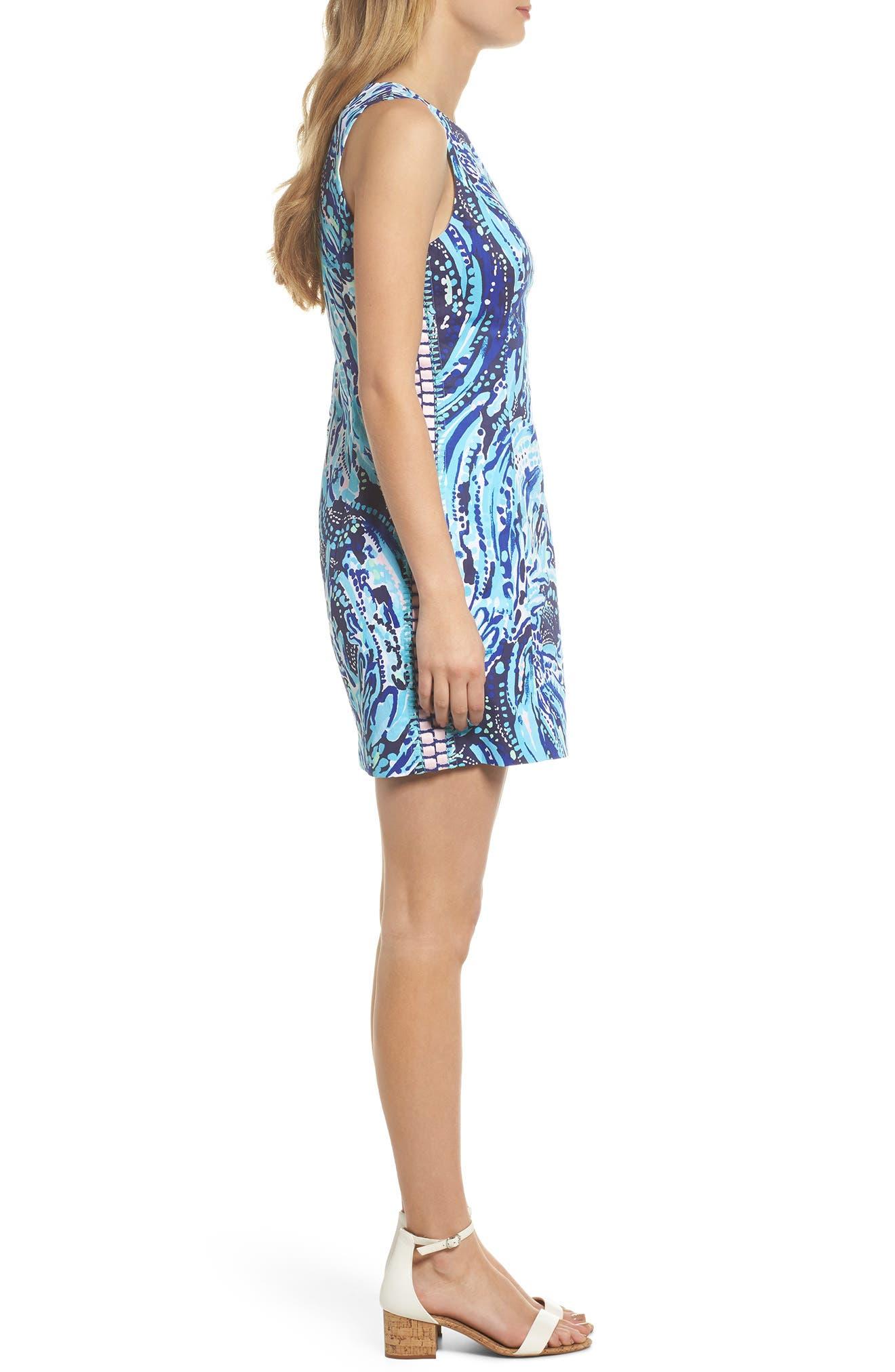 Mila Sheath Dress,                             Alternate thumbnail 3, color,                             Bright Navy Crash The Bash