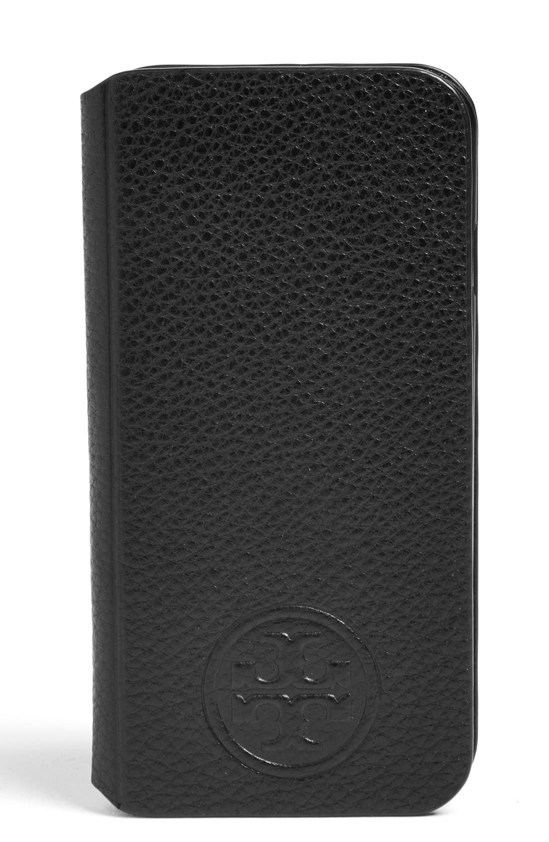 Alternate Image 1 Selected - Tory Burch Leather iPhone 6 & 6s Case