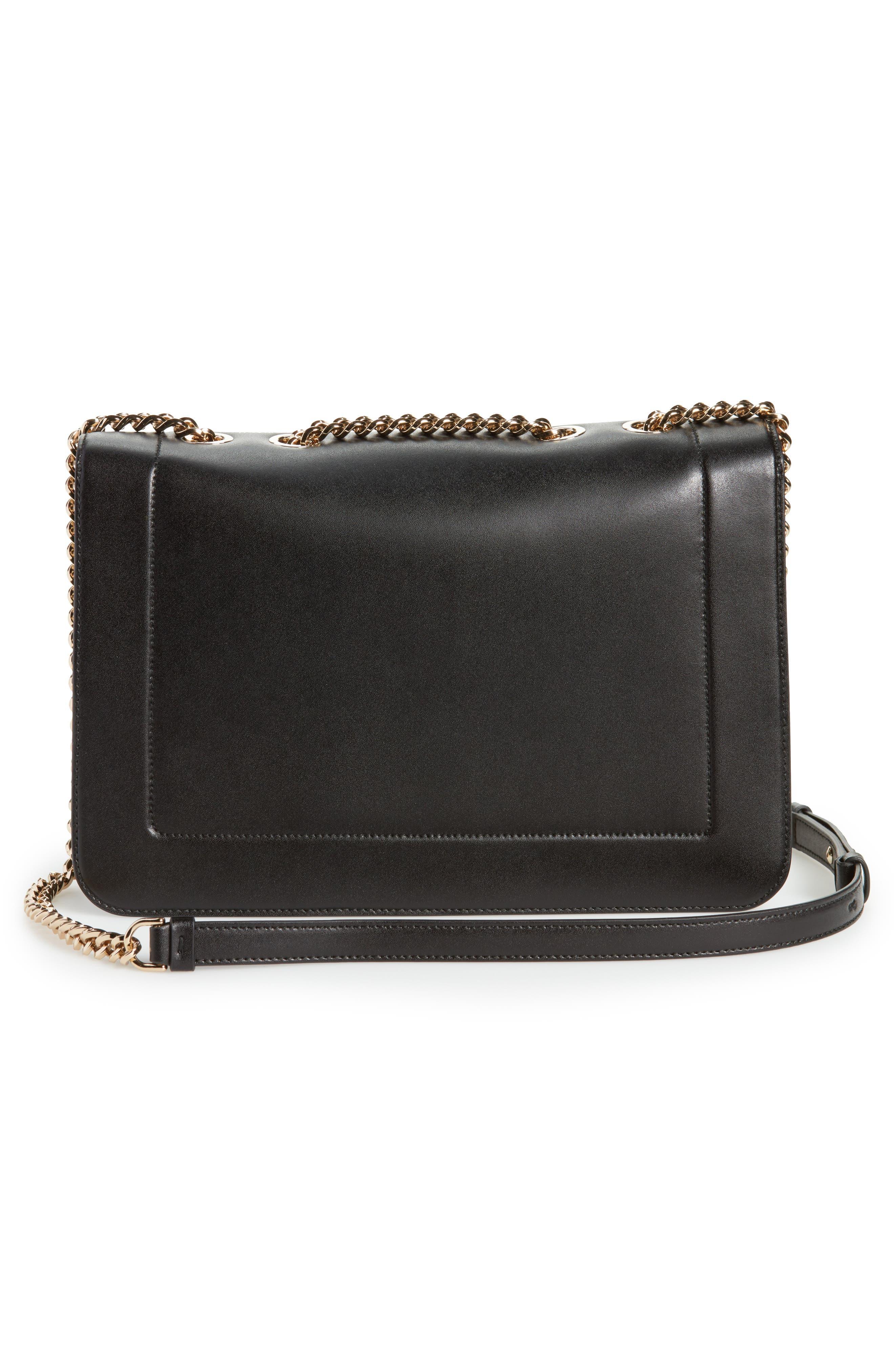 Vara Leather Shoulder Bag,                             Alternate thumbnail 3, color,                             Nero/ Bonbon