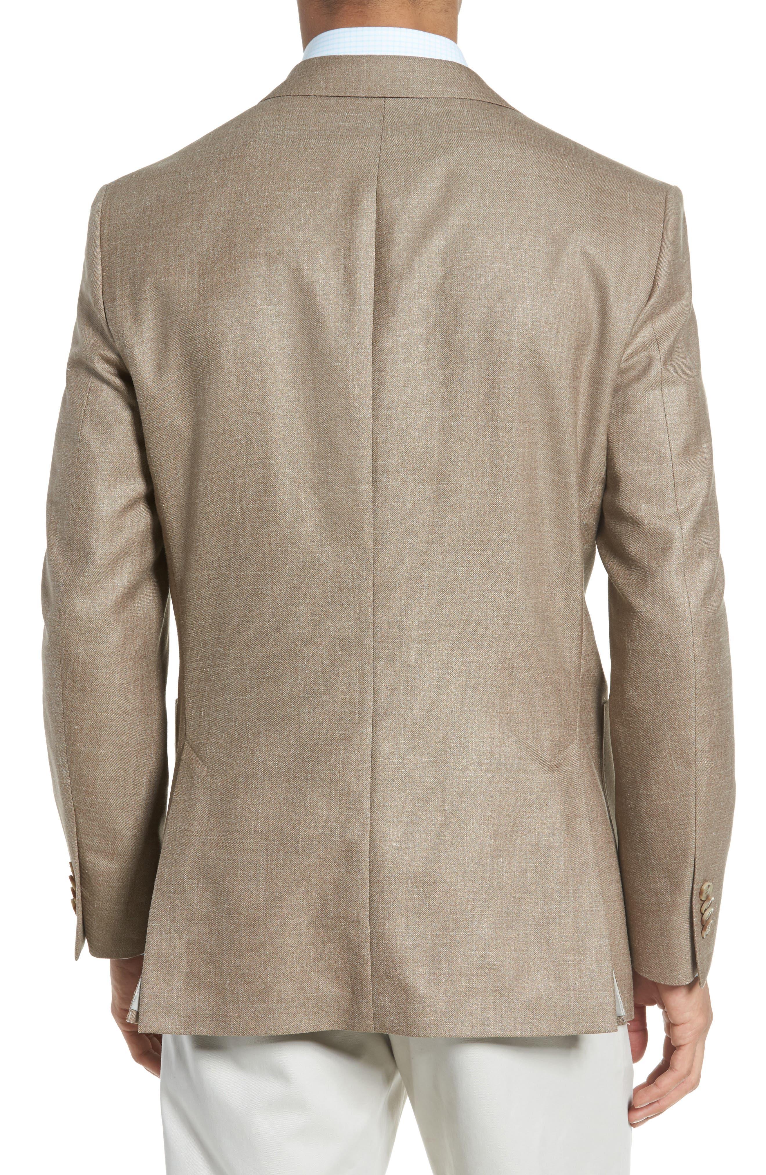 Classic Fit Wool Blend Blazer,                             Alternate thumbnail 2, color,                             Tan