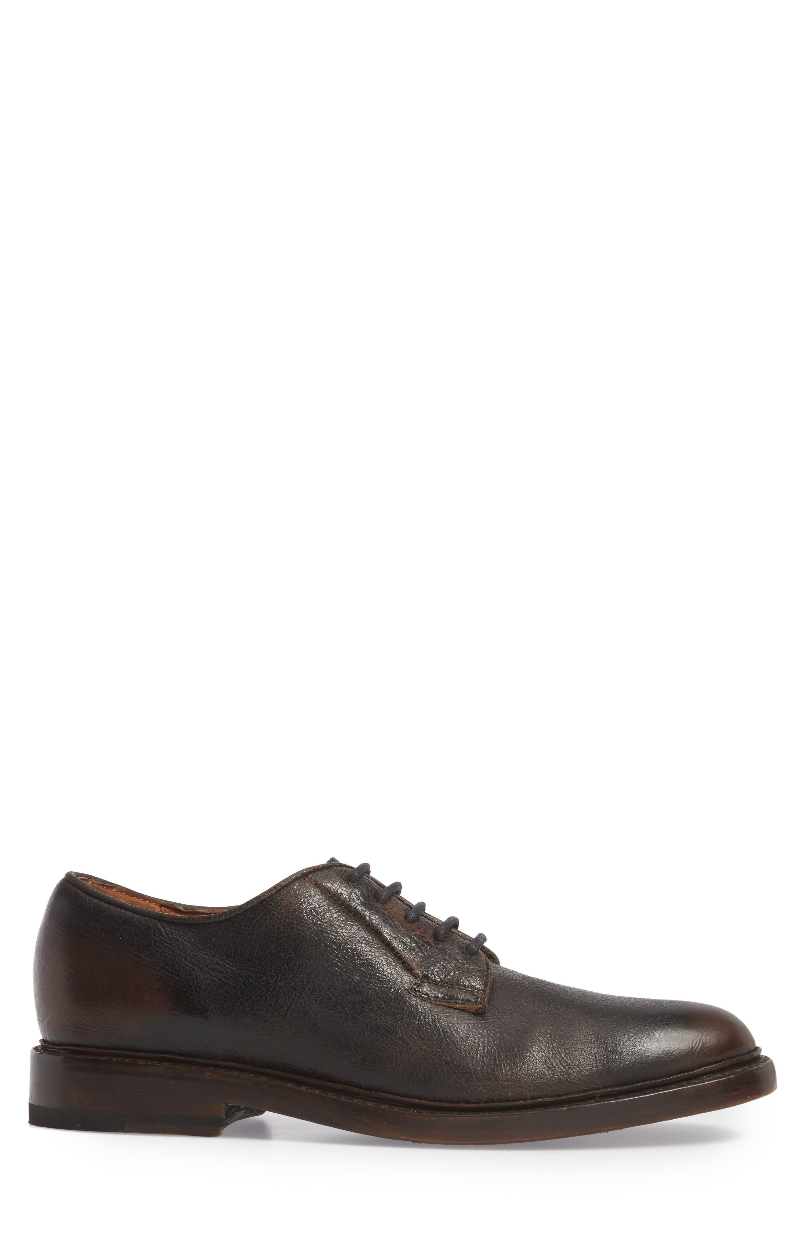 Jones Plain Toe Derby,                             Alternate thumbnail 3, color,                             Dark Brown Leather
