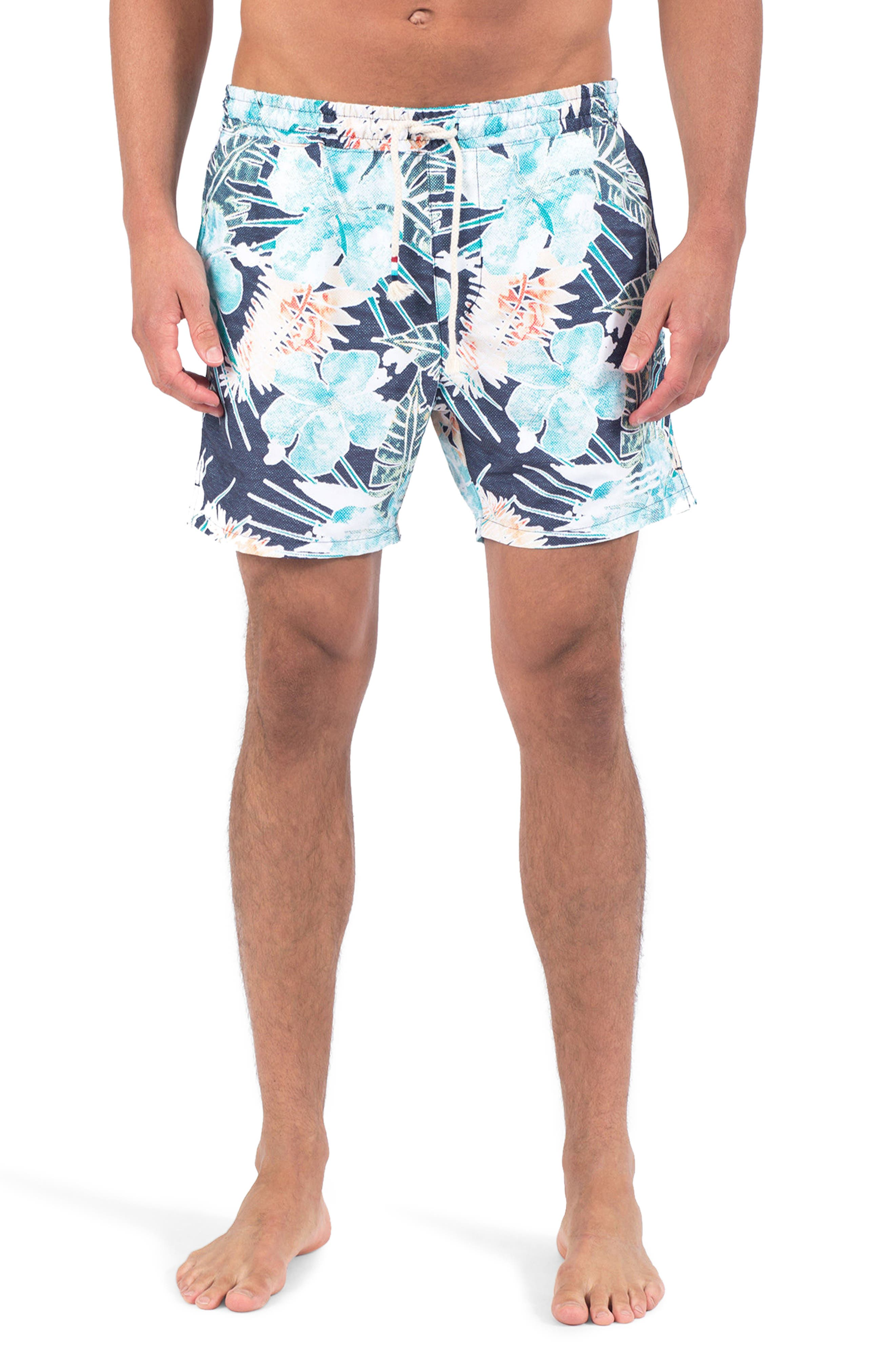 Botanica Verde Swim Shorts,                             Main thumbnail 1, color,                             Botanica Verde