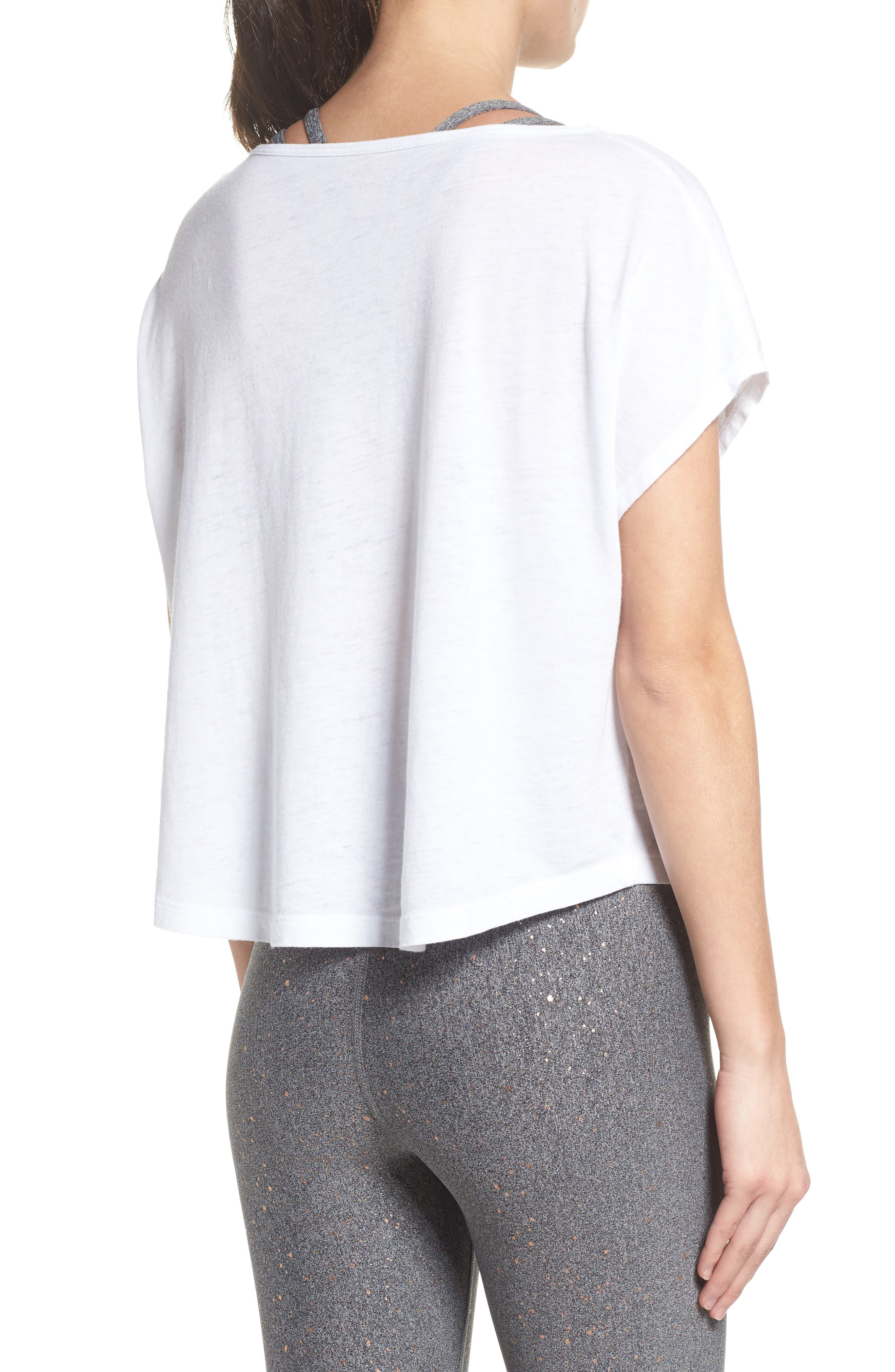 Perfect Layer Tee,                             Alternate thumbnail 2, color,                             White