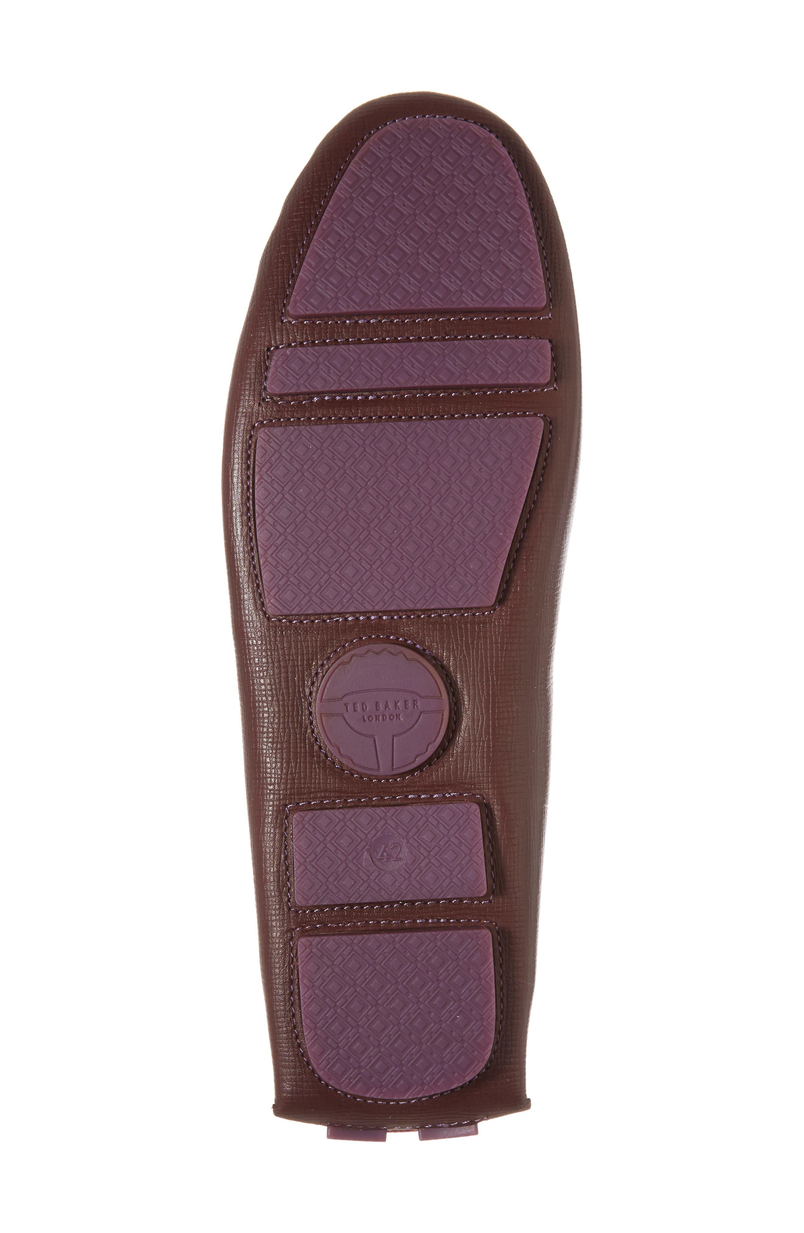 Urbonn Tasseled Driving Loafer,                             Alternate thumbnail 6, color,                             Dark Red Leather