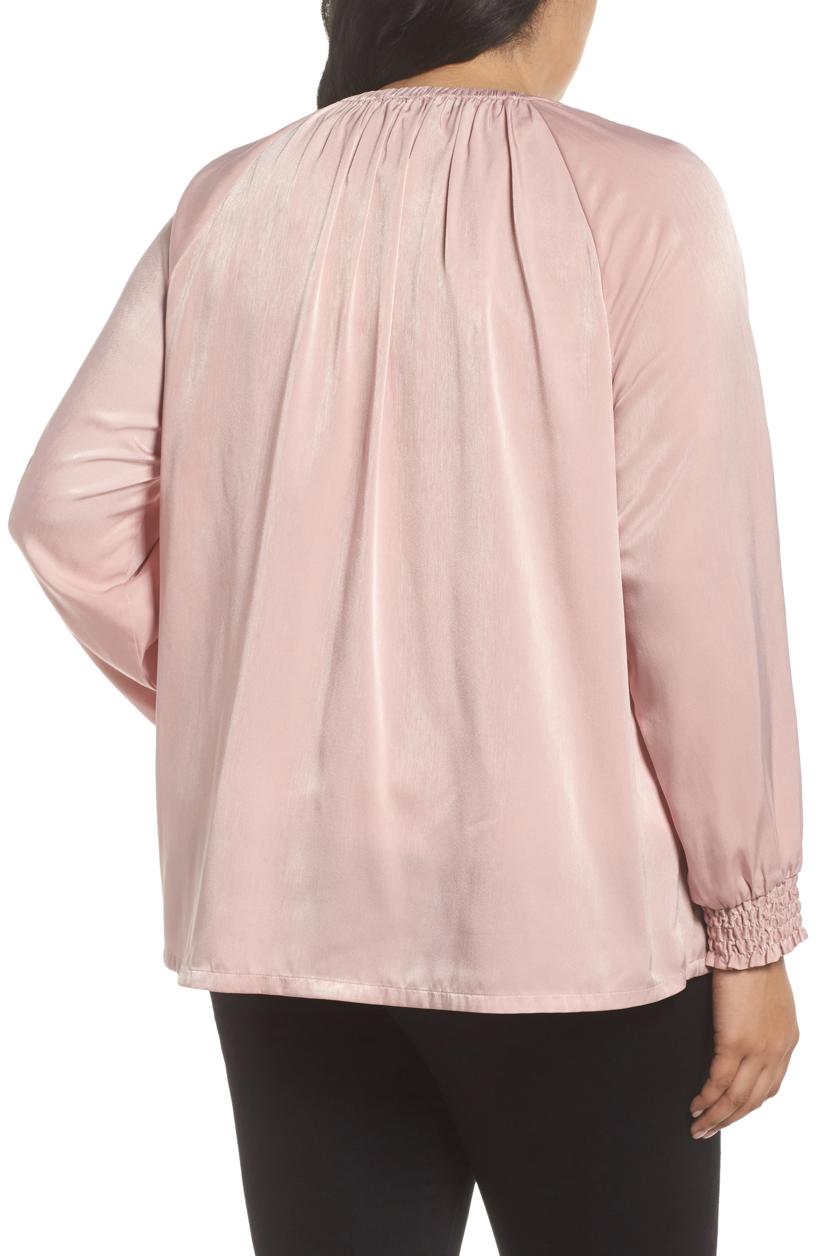 Swing Back Satin Bomber Jacket,                             Alternate thumbnail 2, color,                             Pink Puff