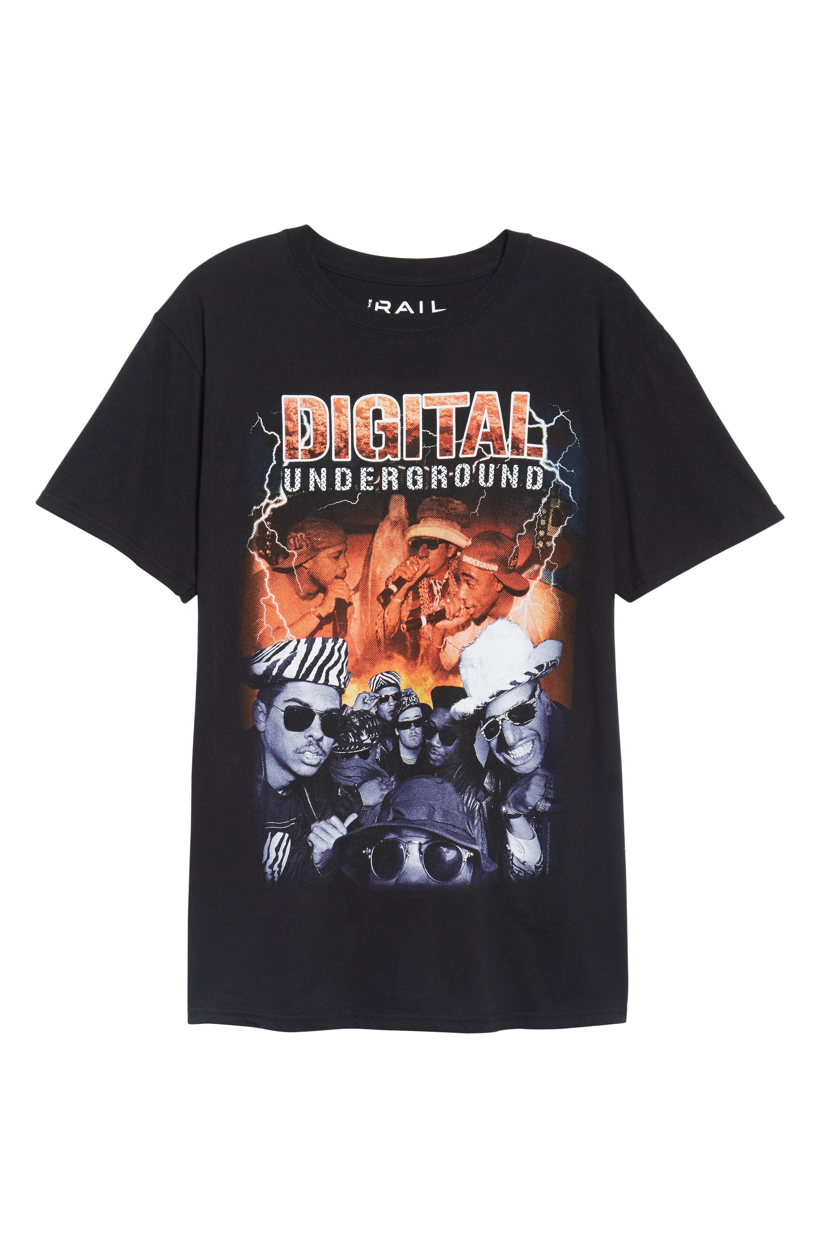 Digital Underground Graphic T-Shirt,                             Alternate thumbnail 6, color,                             Black Lightning D. Underground