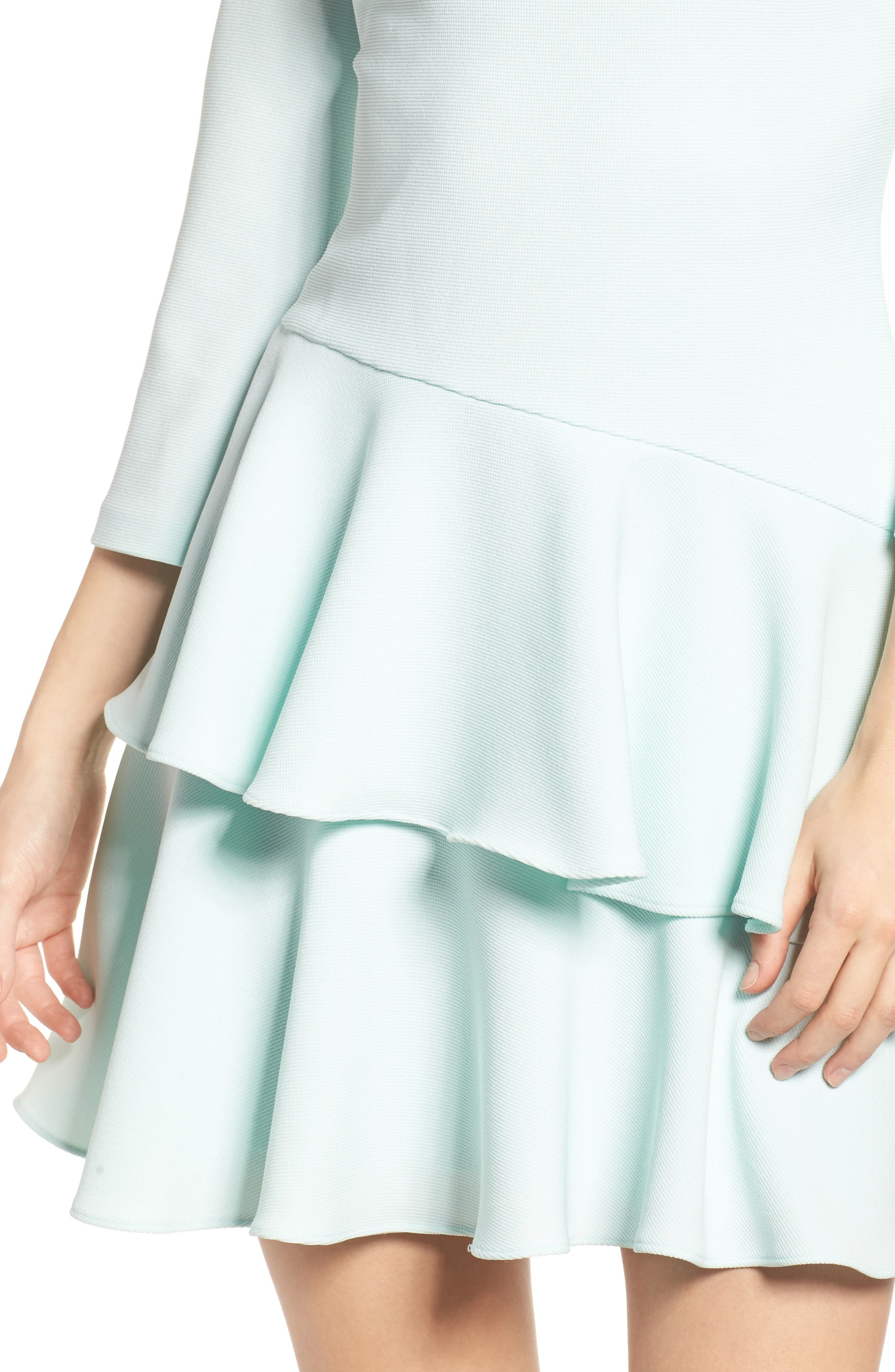 Tiered Ruffle Dress,                             Alternate thumbnail 4, color,                             Mint