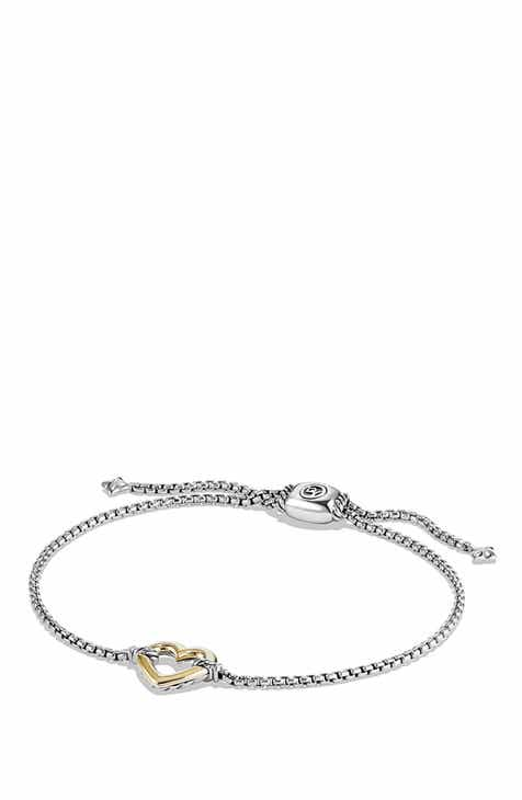 838c91a26 David Yurman 'Cable Collectibles' Heart Station Bracelet with 18K Gold