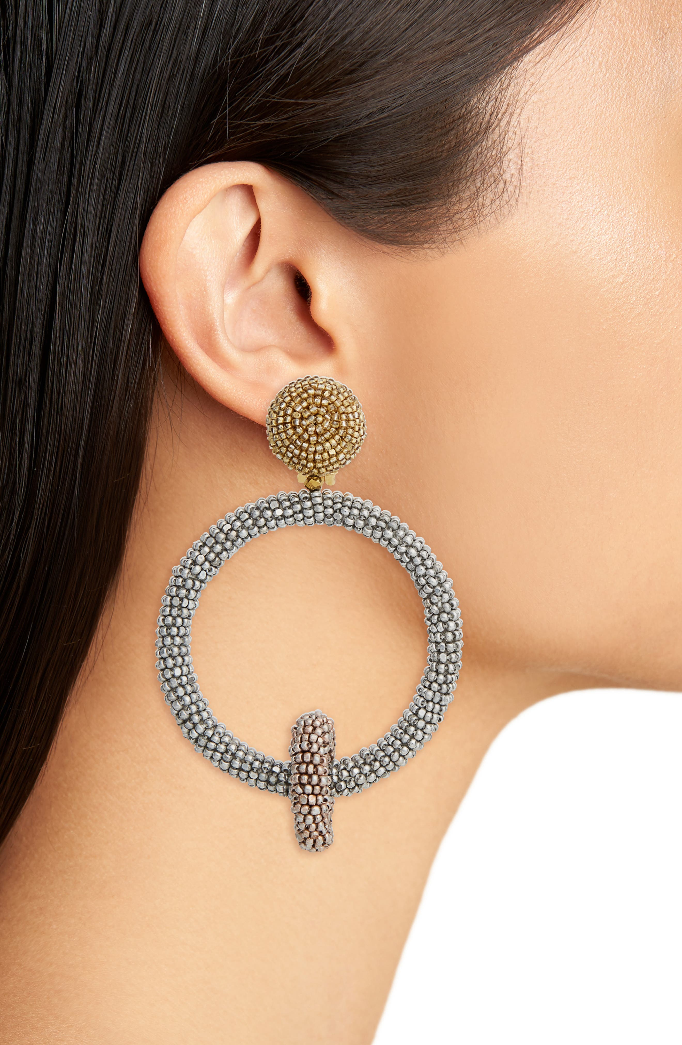 Alternate Image 2  - Oscar de la Renta Beaded Drop Earrings