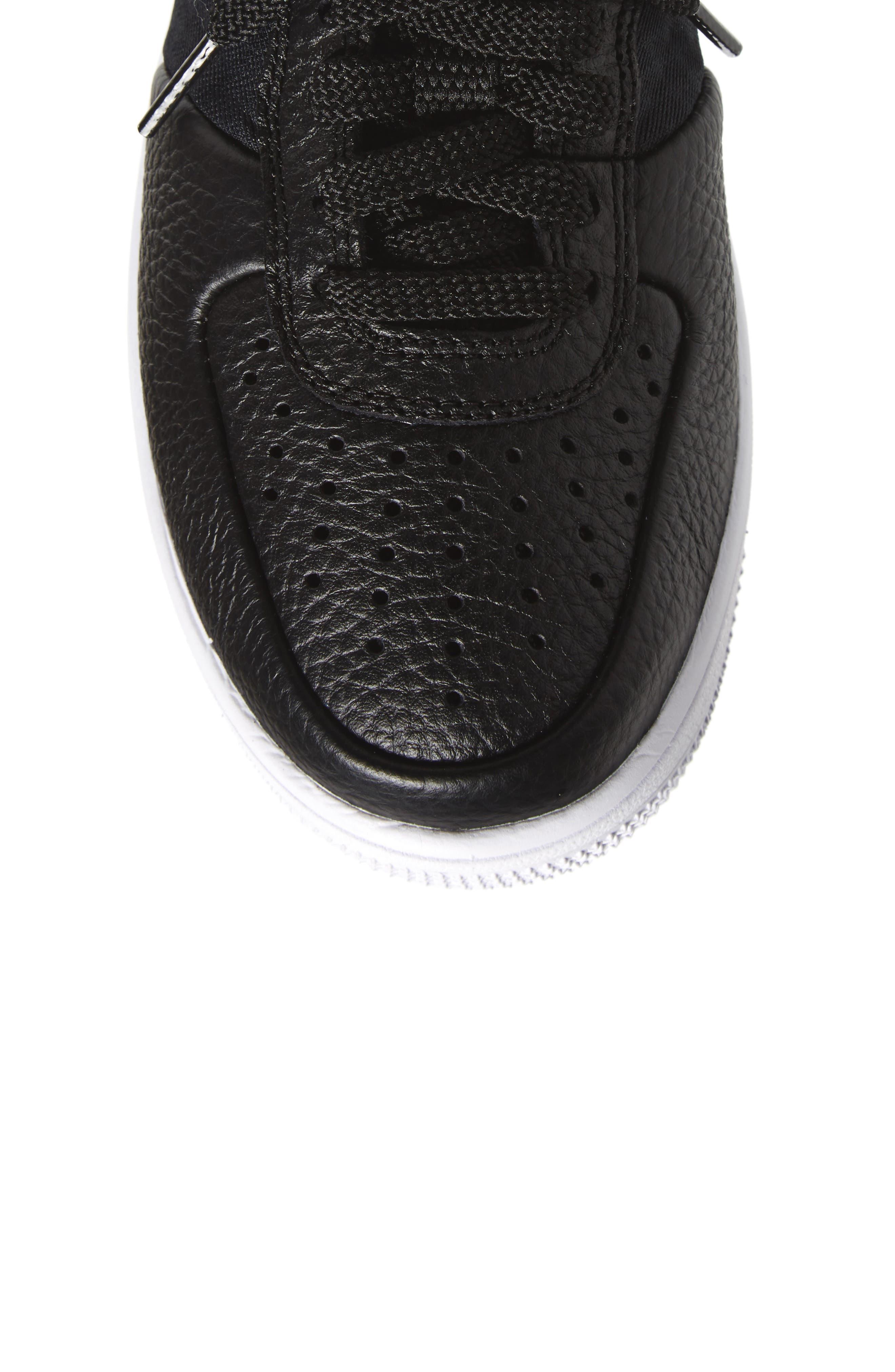 Air Force 1 Ultraforce Mid Sneaker,                             Alternate thumbnail 5, color,                             Black/ Black