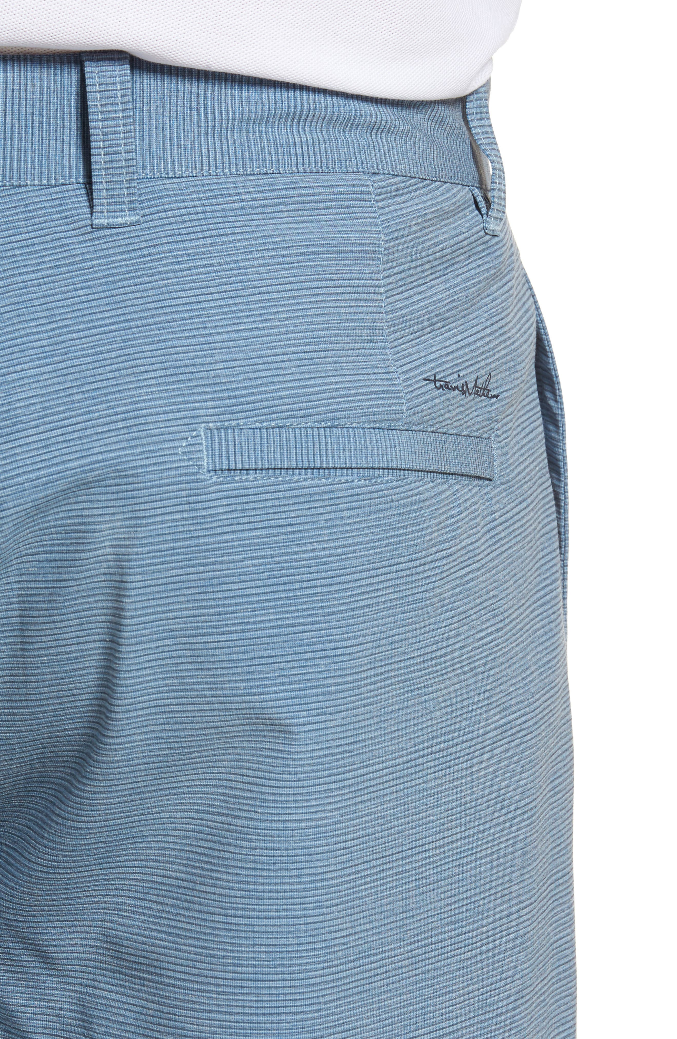 Toro Regular Fit Microstripe Shorts,                             Alternate thumbnail 4, color,                             French Blue/ Micro Chip