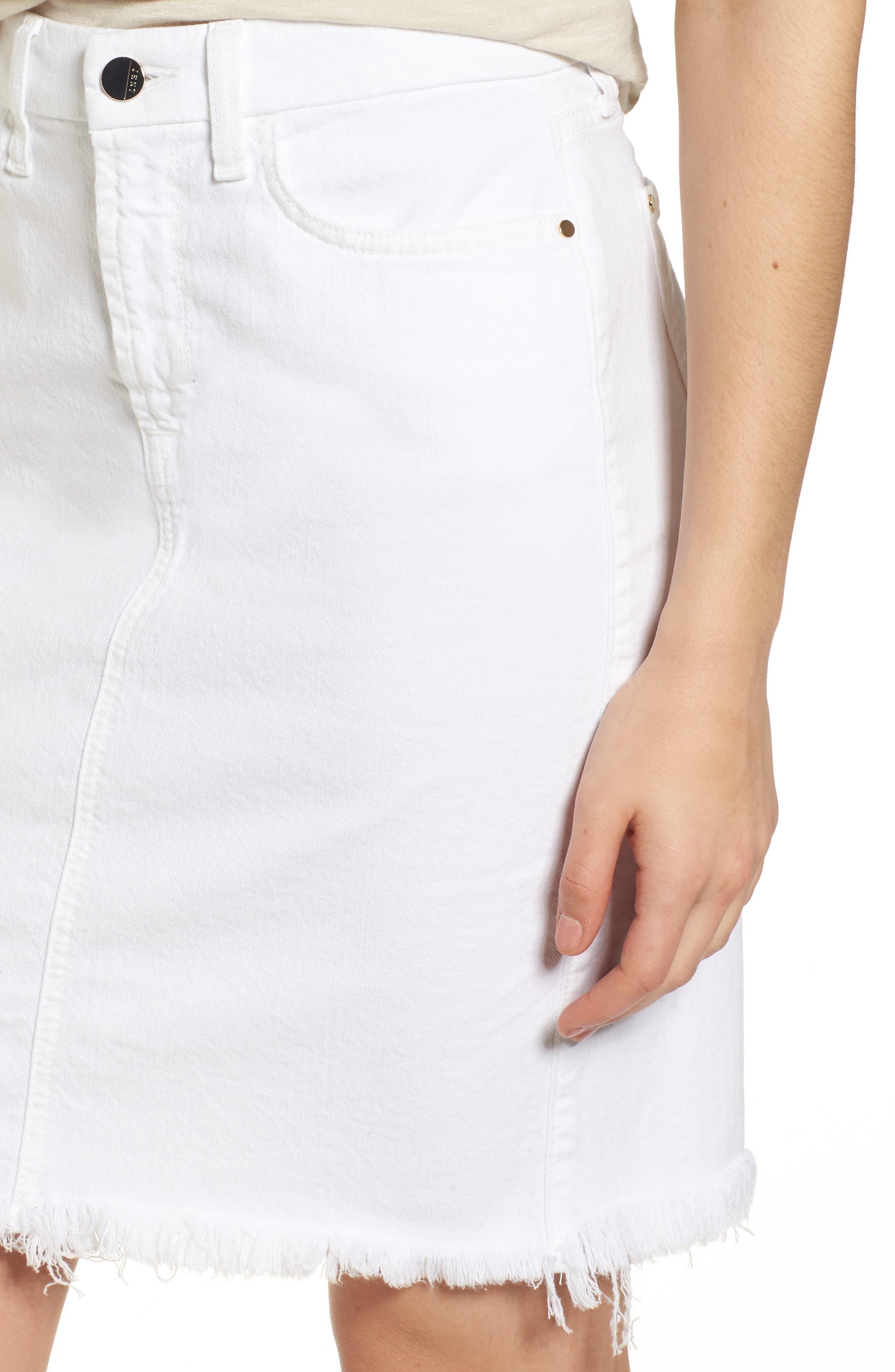 Alternate Image 4  - Jen7 Frayed Hem Denim Pencil Skirt