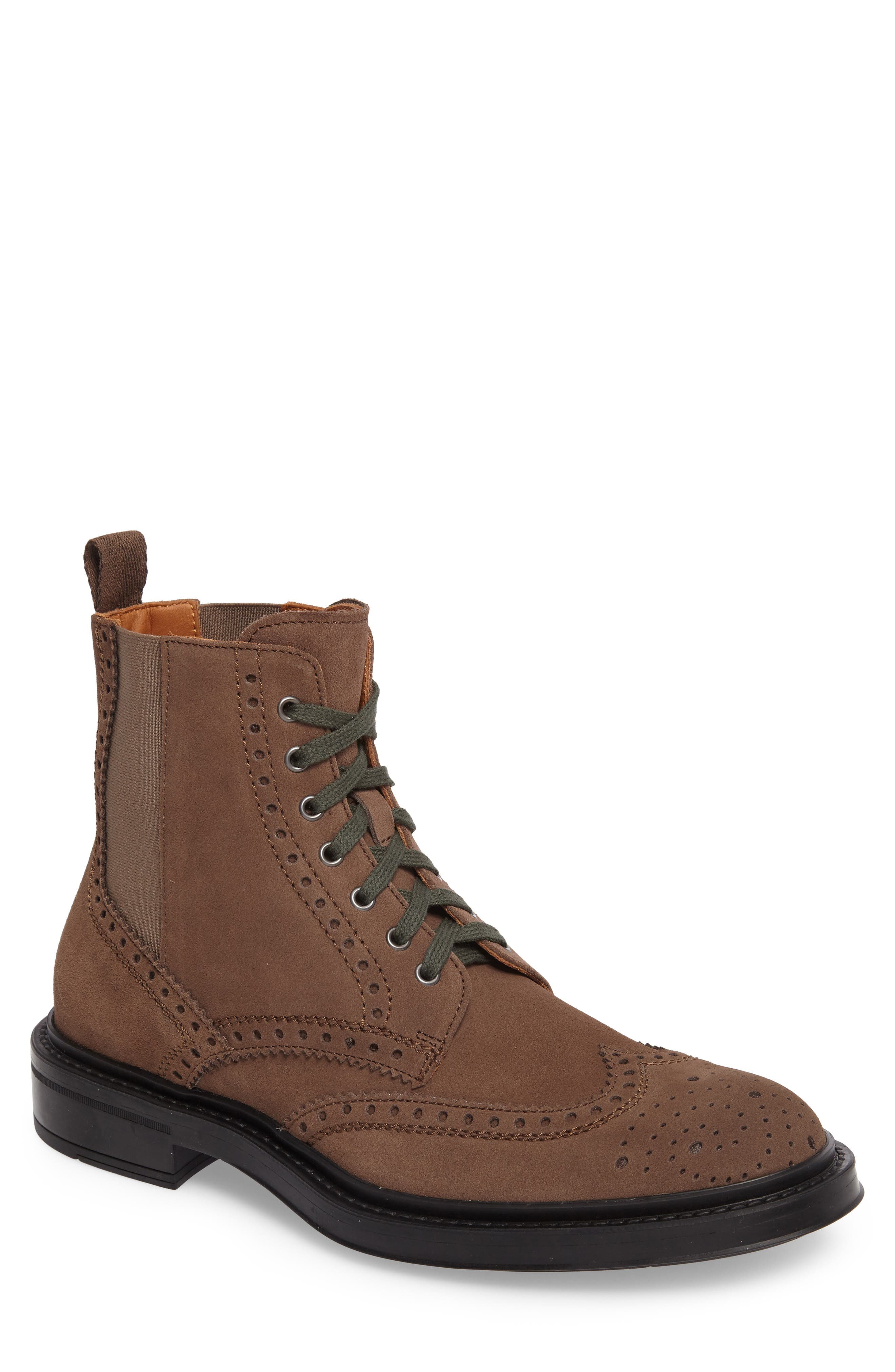 Lawrence Wingtip Boot,                         Main,                         color, Dark Taupe