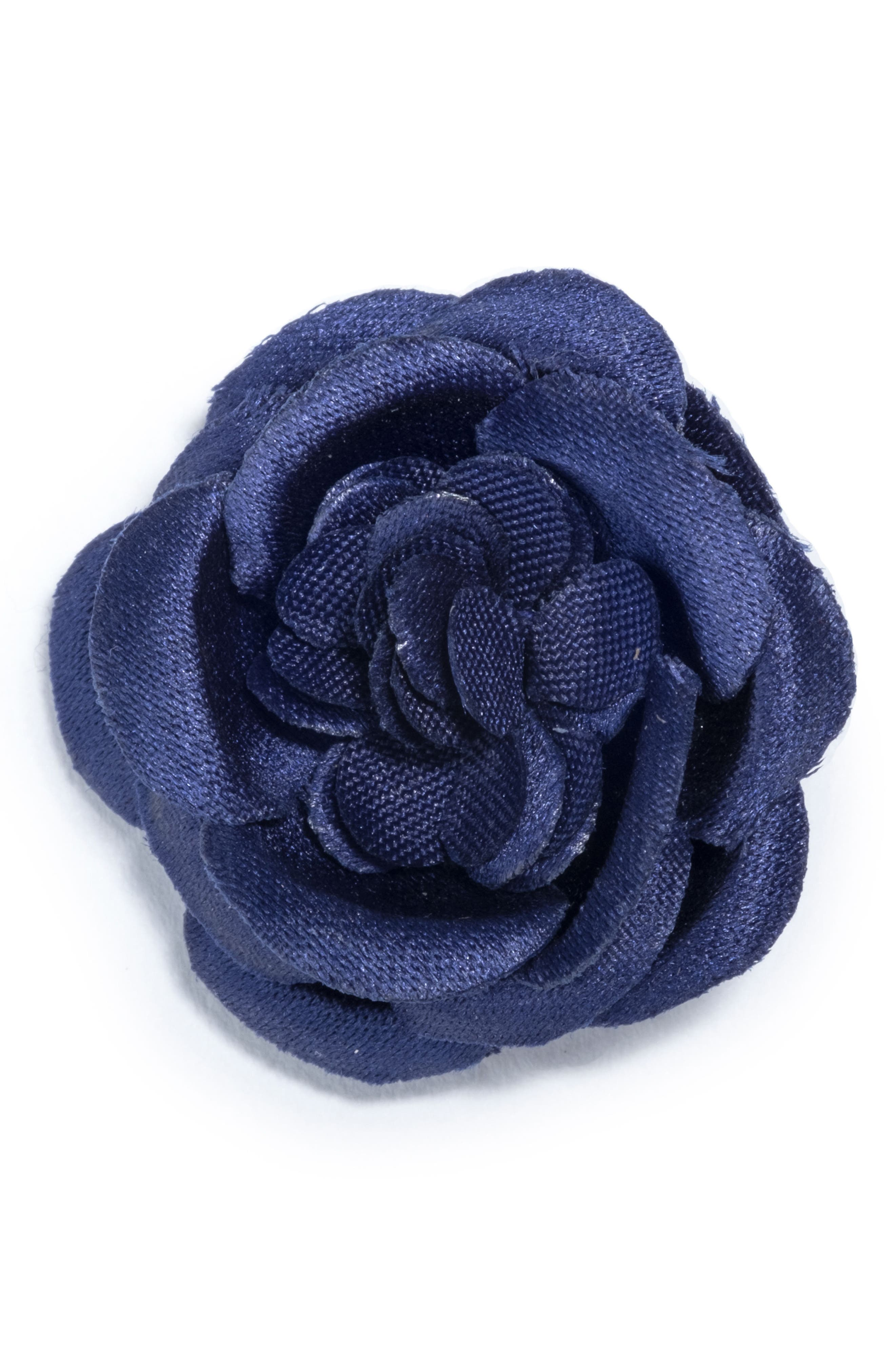 Small Lapel Flower,                             Main thumbnail 1, color,                             Navy
