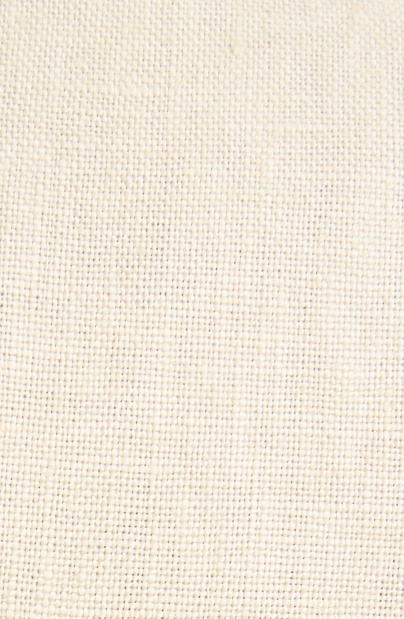 Topstitched Linen Coat,                             Alternate thumbnail 5, color,                             Beige