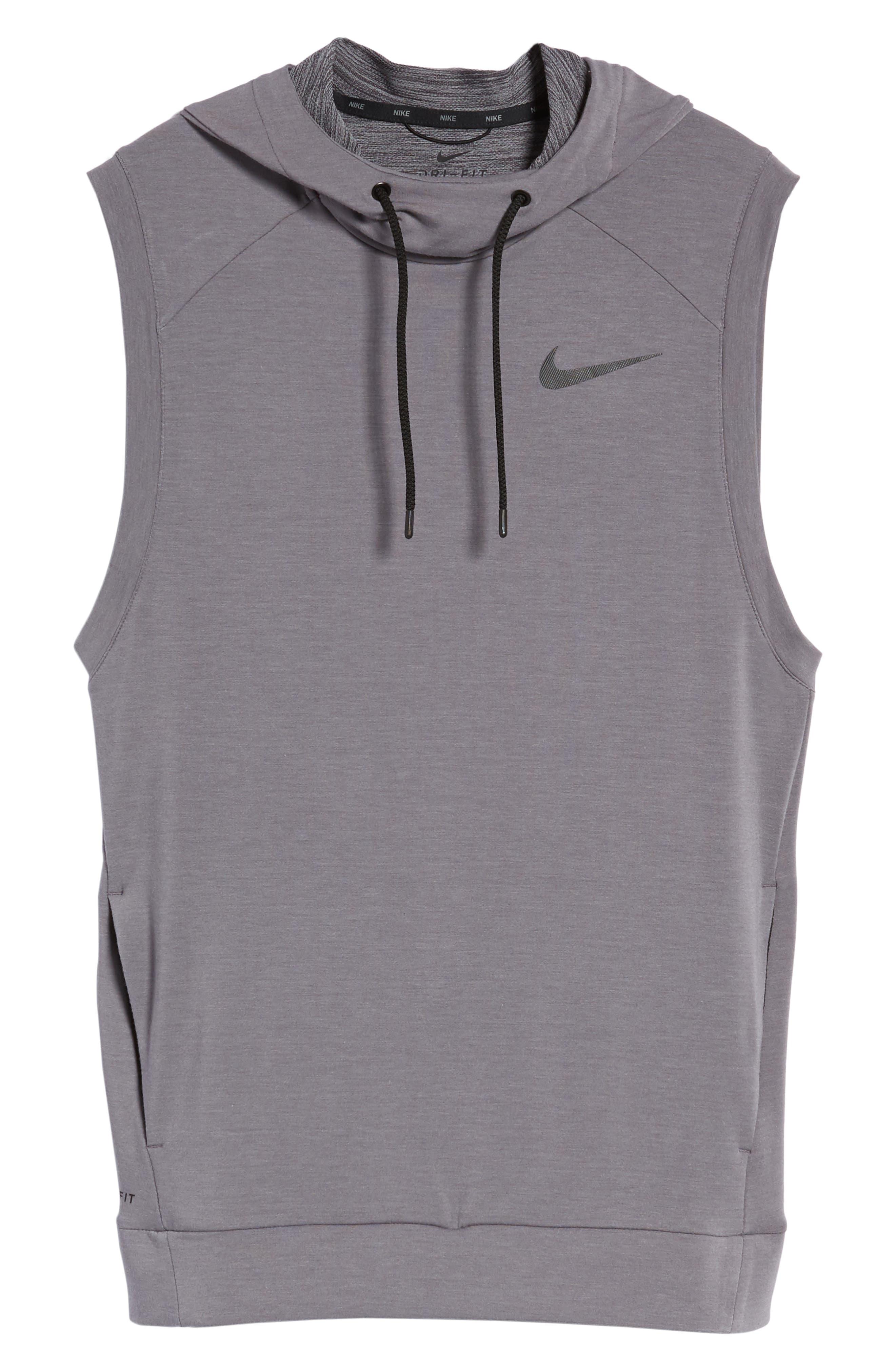 Alternate Image 6  - Nike Dry Training Day Sleeveless Hoodie