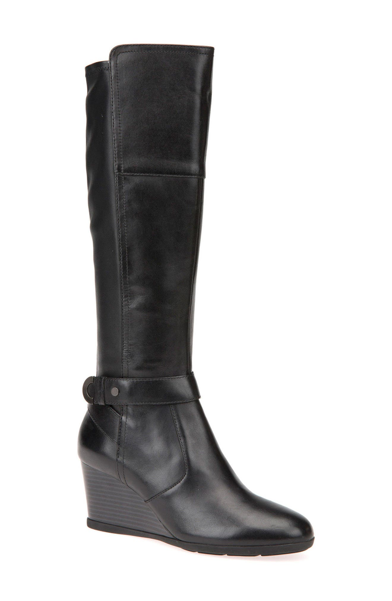 Geox Inspiration Knee High Wedge Boot (Women)