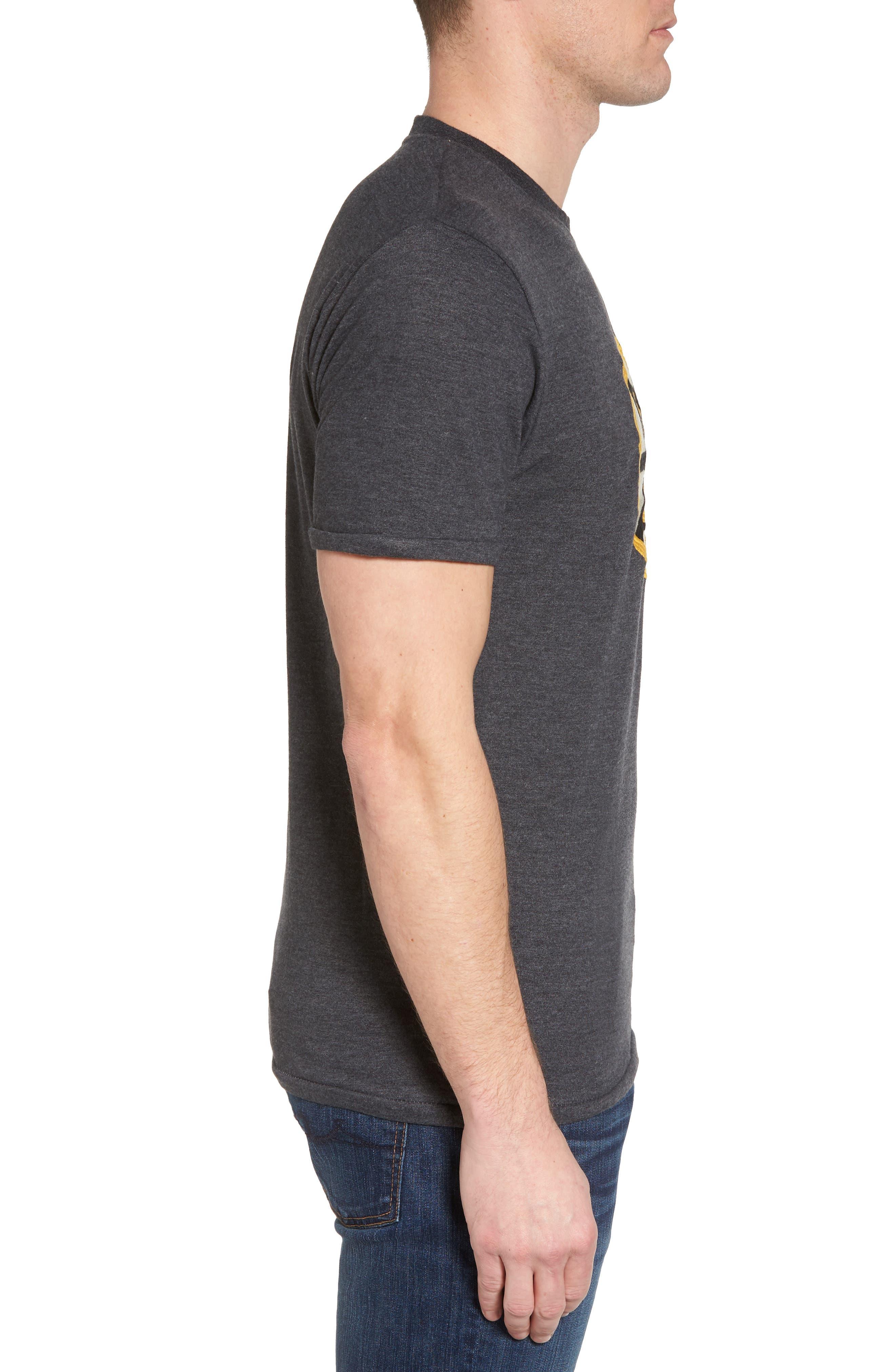 Hillwood Bruins T-Shirt,                             Alternate thumbnail 3, color,                             Heather Black