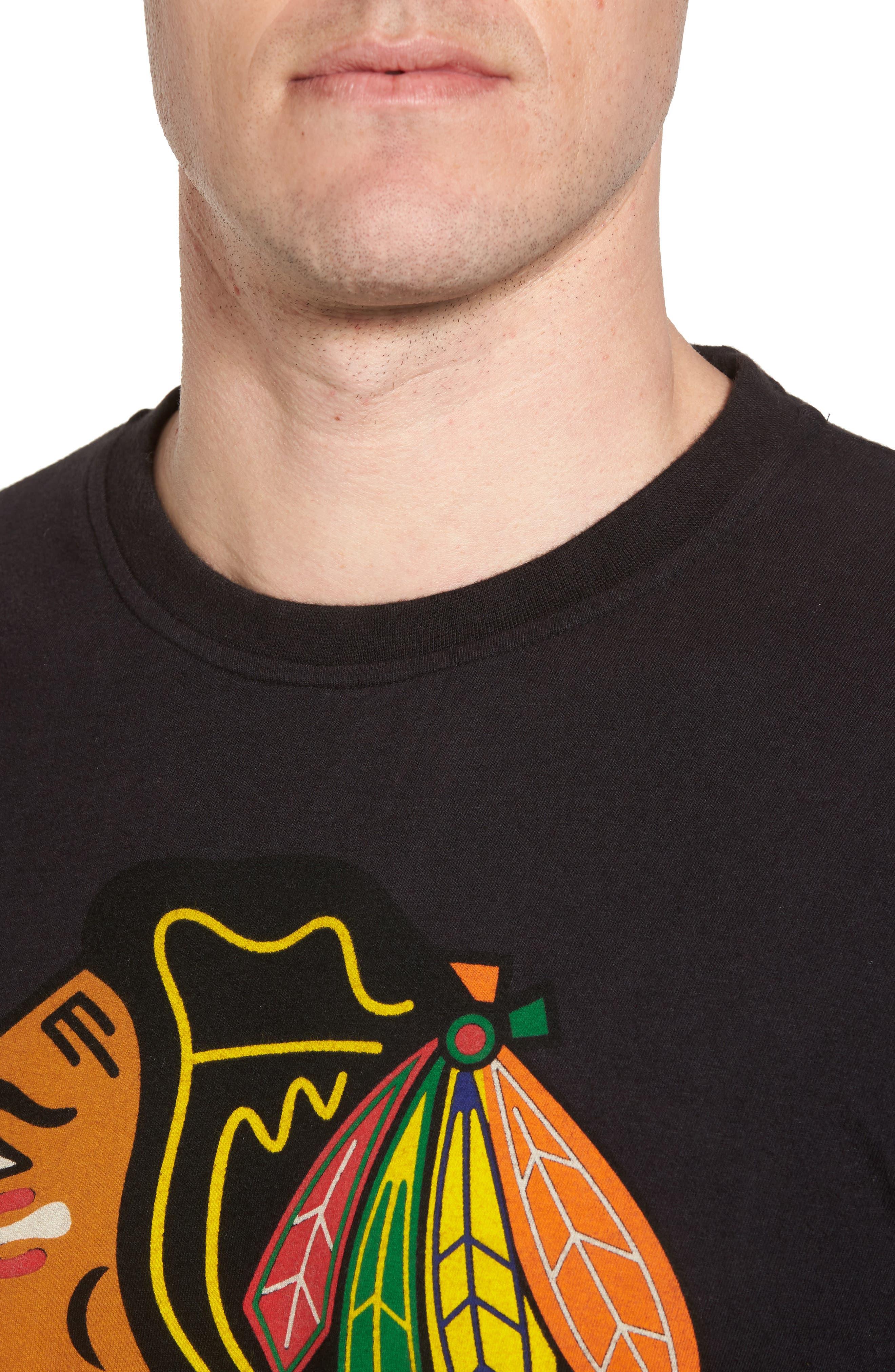 Gresham Chicago Blackhawks T-Shirt,                             Alternate thumbnail 4, color,                             Black