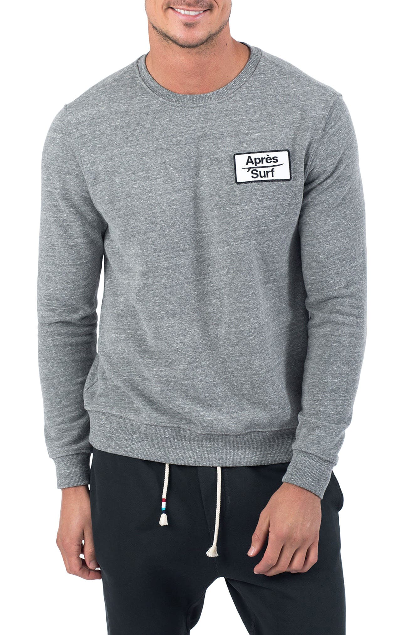 Aprés Surf Sweatshirt,                         Main,                         color, Heather Grey