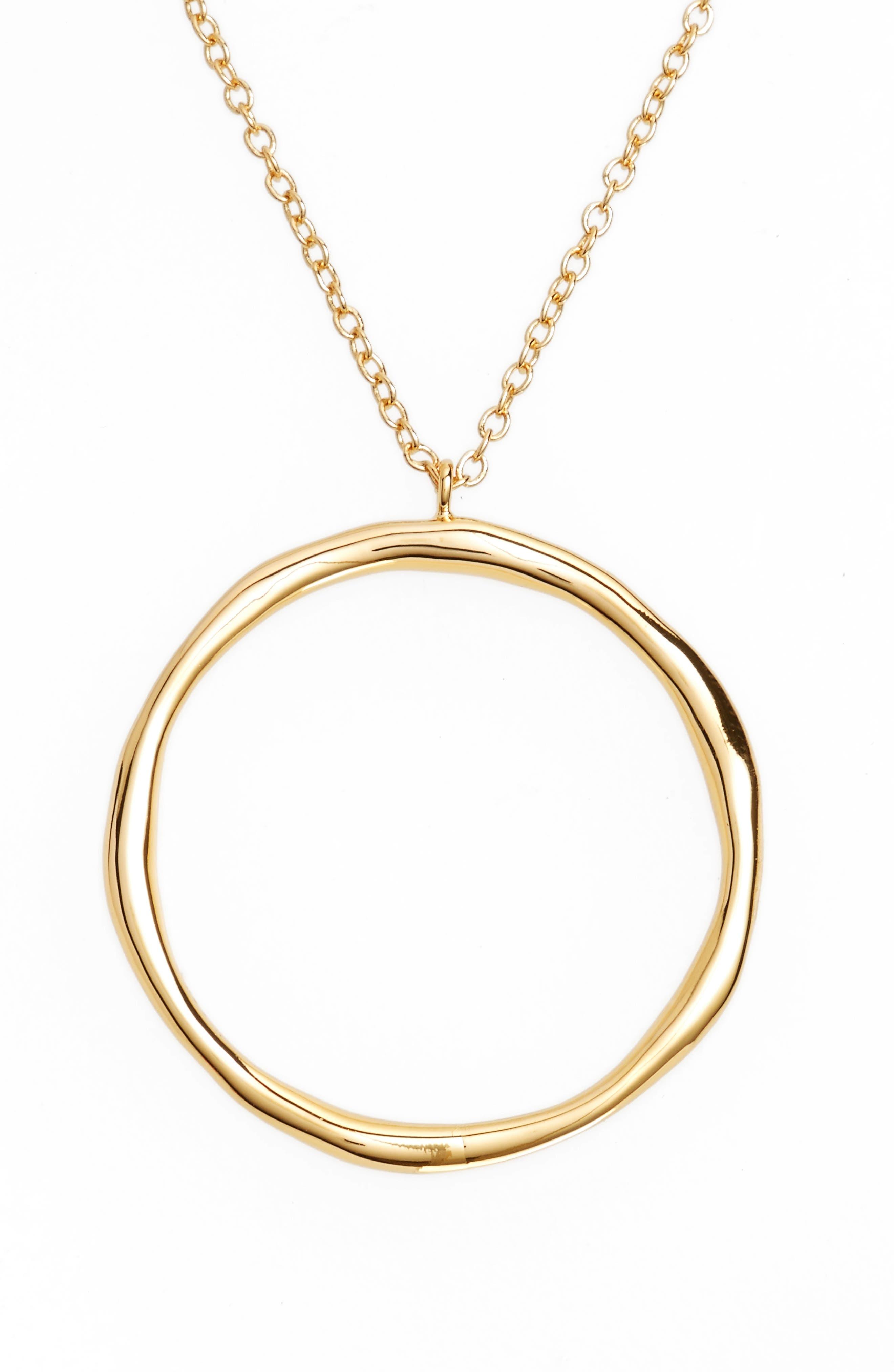 Quinn Hoop Necklace,                             Main thumbnail 1, color,                             Gold