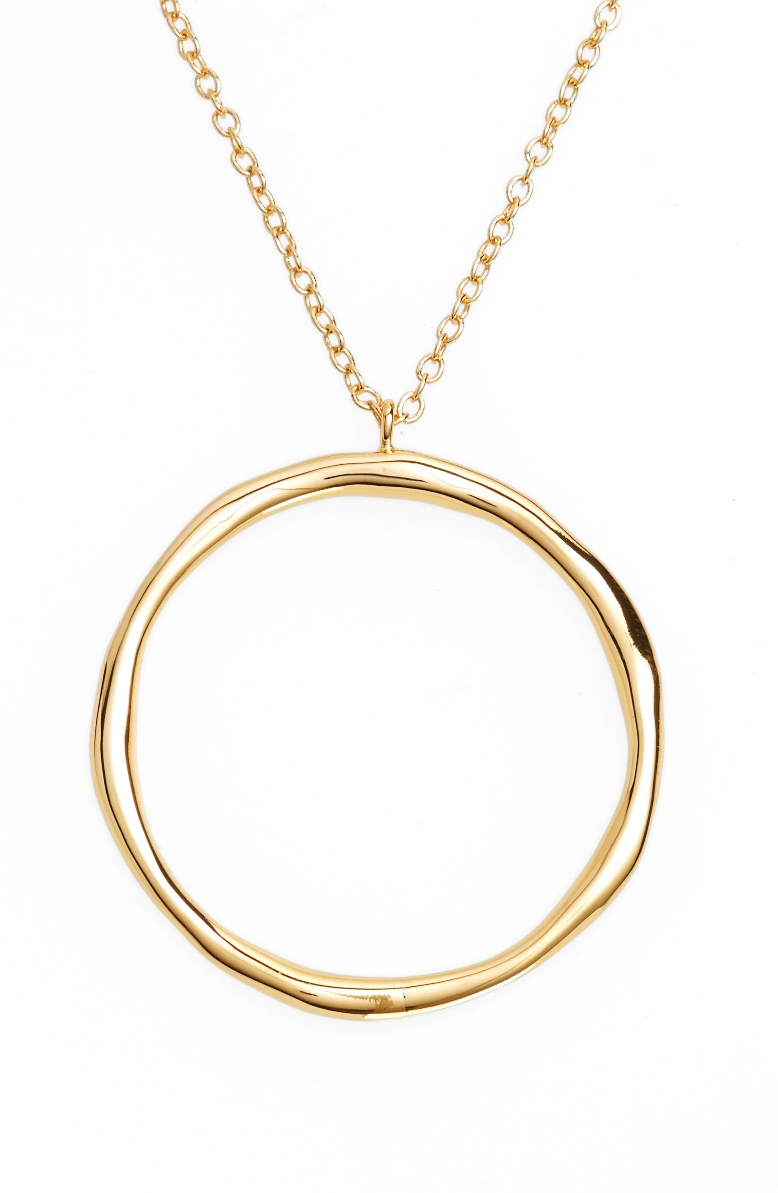 Quinn Hoop Necklace,                         Main,                         color, Gold