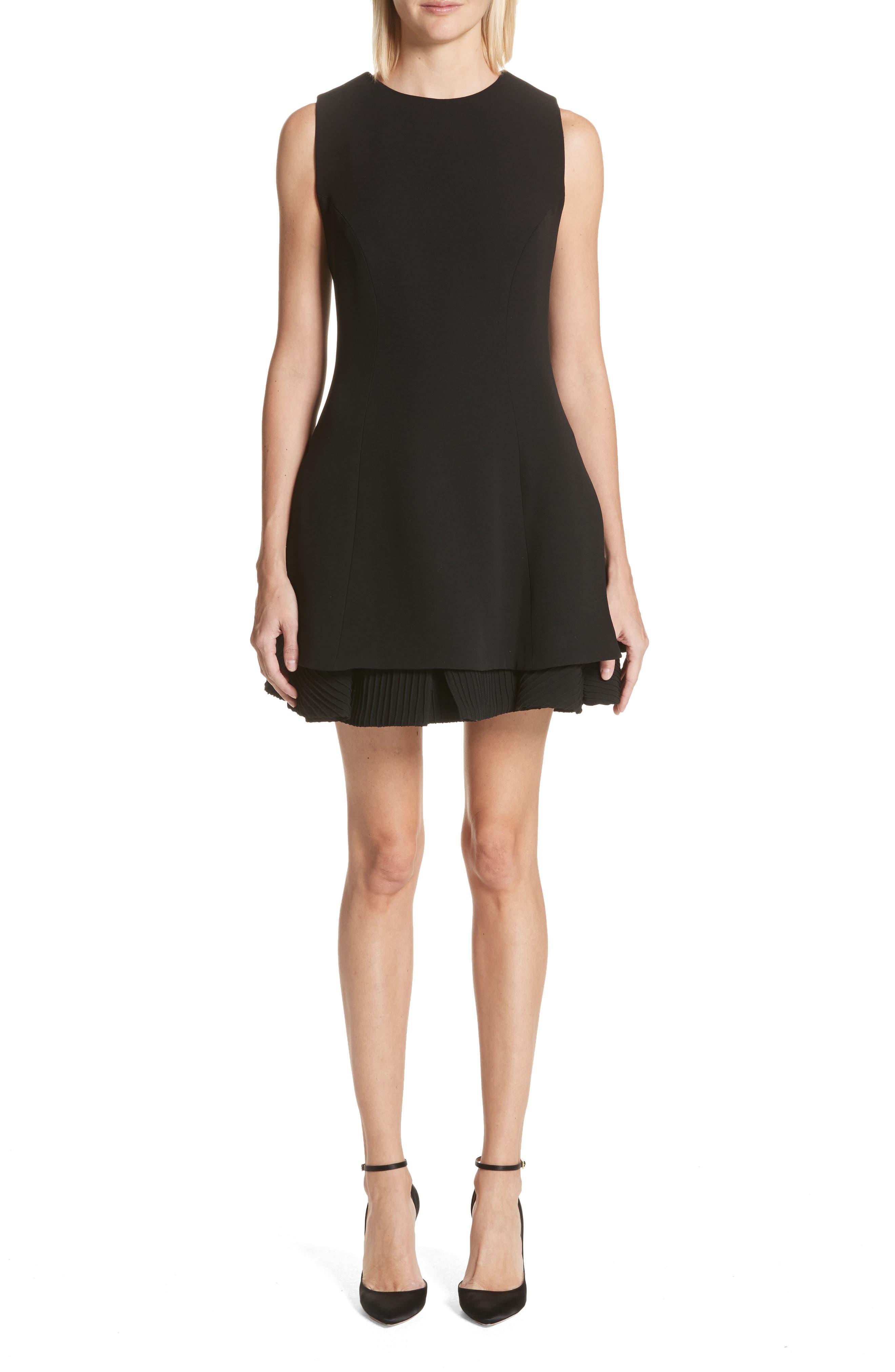 Alternate Image 1 Selected - Brandon Maxwell Pleated Hem Fit & Flare Dress