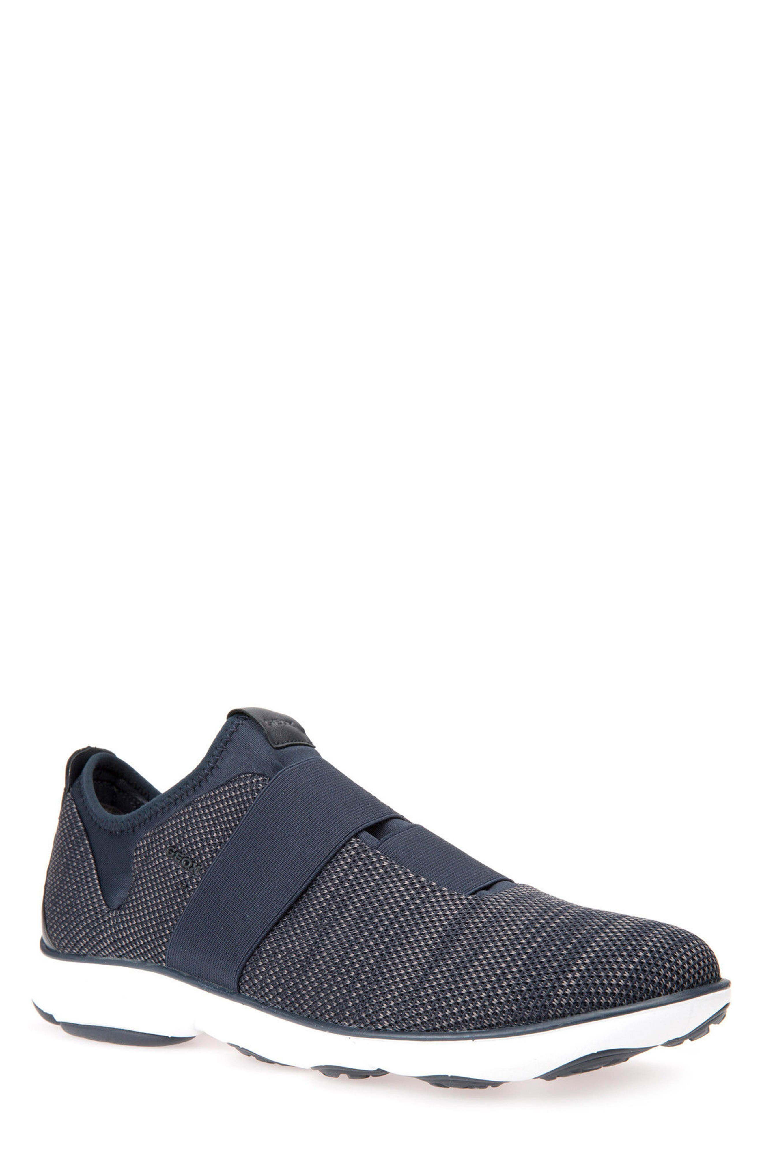 Nebula 45 Banded Slip-On Sneaker,                             Main thumbnail 1, color,                             Navy