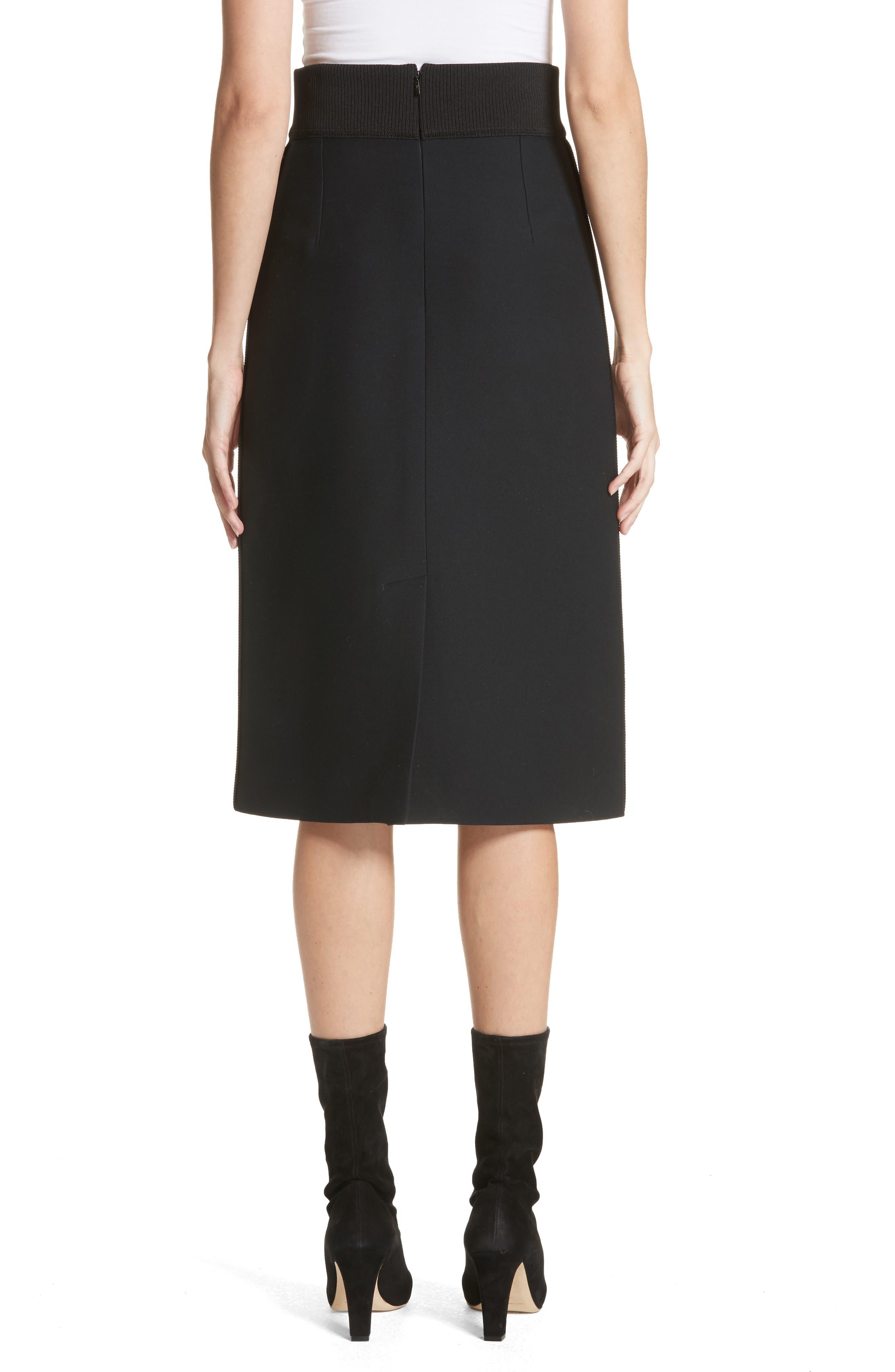 Alternate Image 2  - Fendi Wool & Silk Gazar Pencil Skirt
