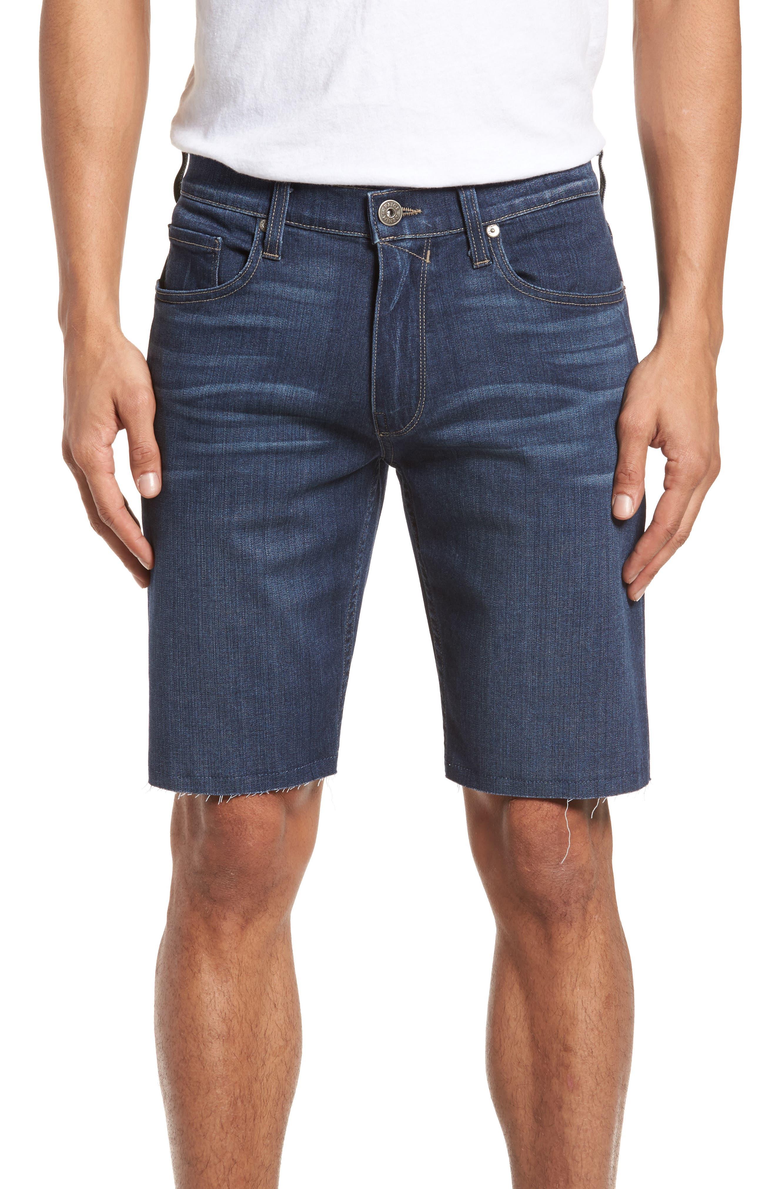 PAIGE Transcend - Federal Slim Straight Leg Denim Shorts (Leo)