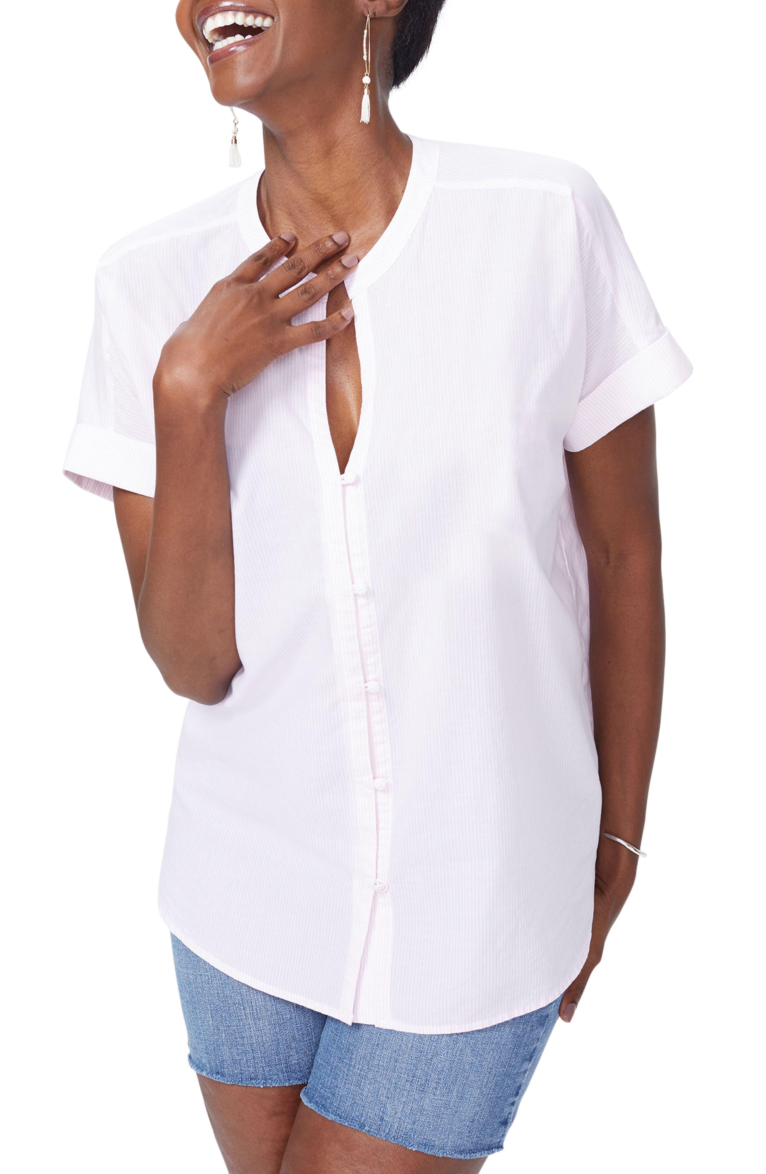 NYDJ Pinstripe Cotton Top