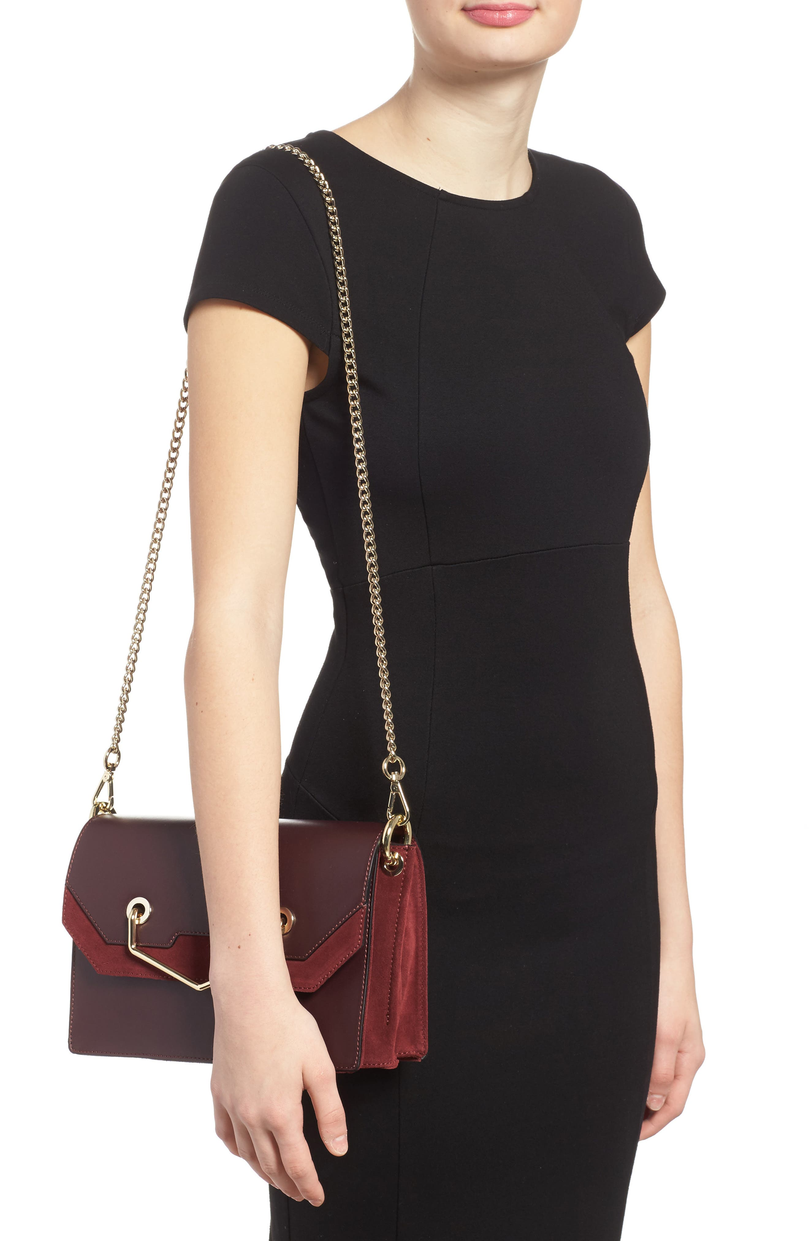 Alternate Image 2  - Topshop Premium Leather & Suede Soko Shoulder Bag