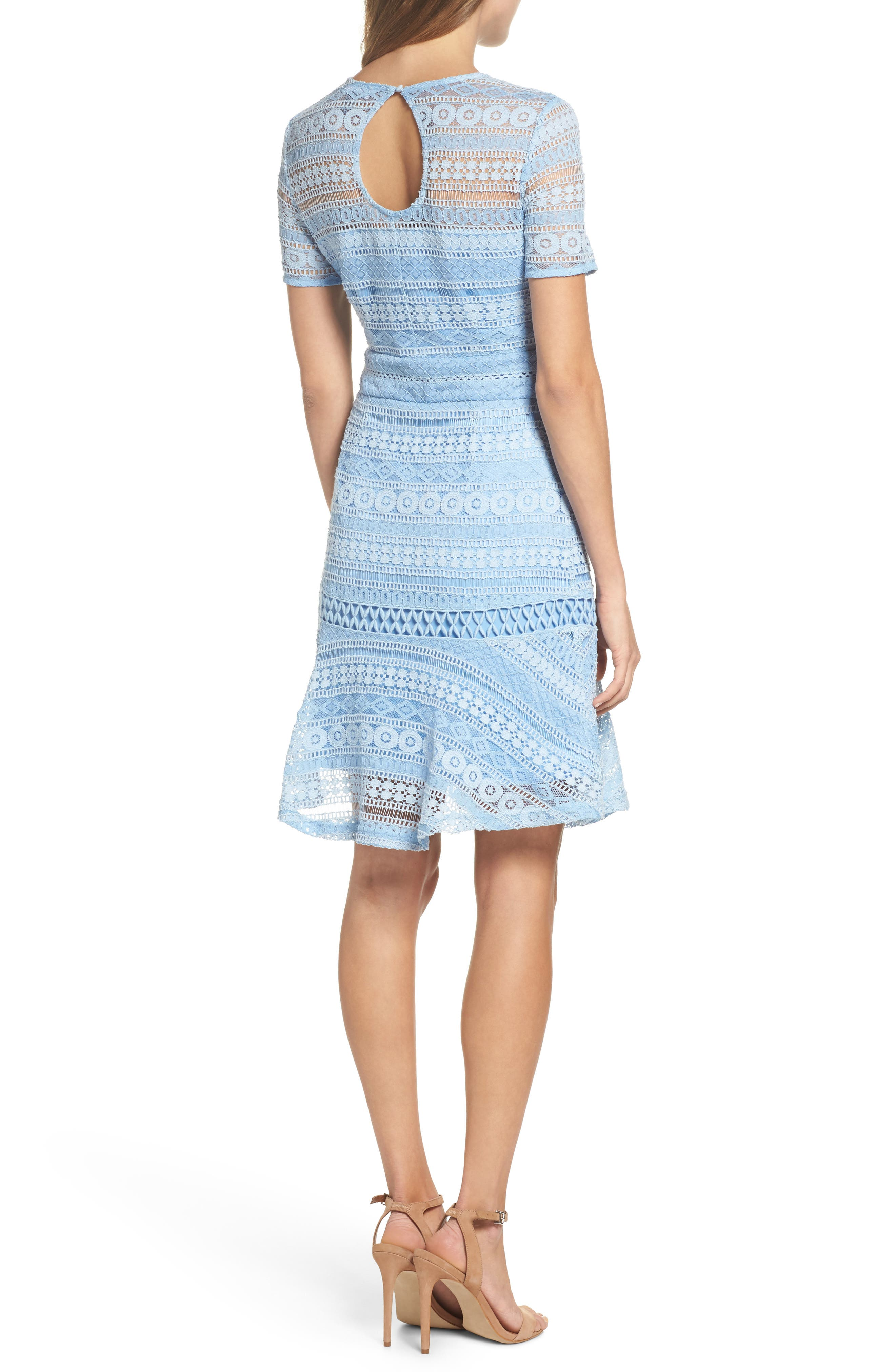 Lace Dress,                             Alternate thumbnail 2, color,                             Blue French