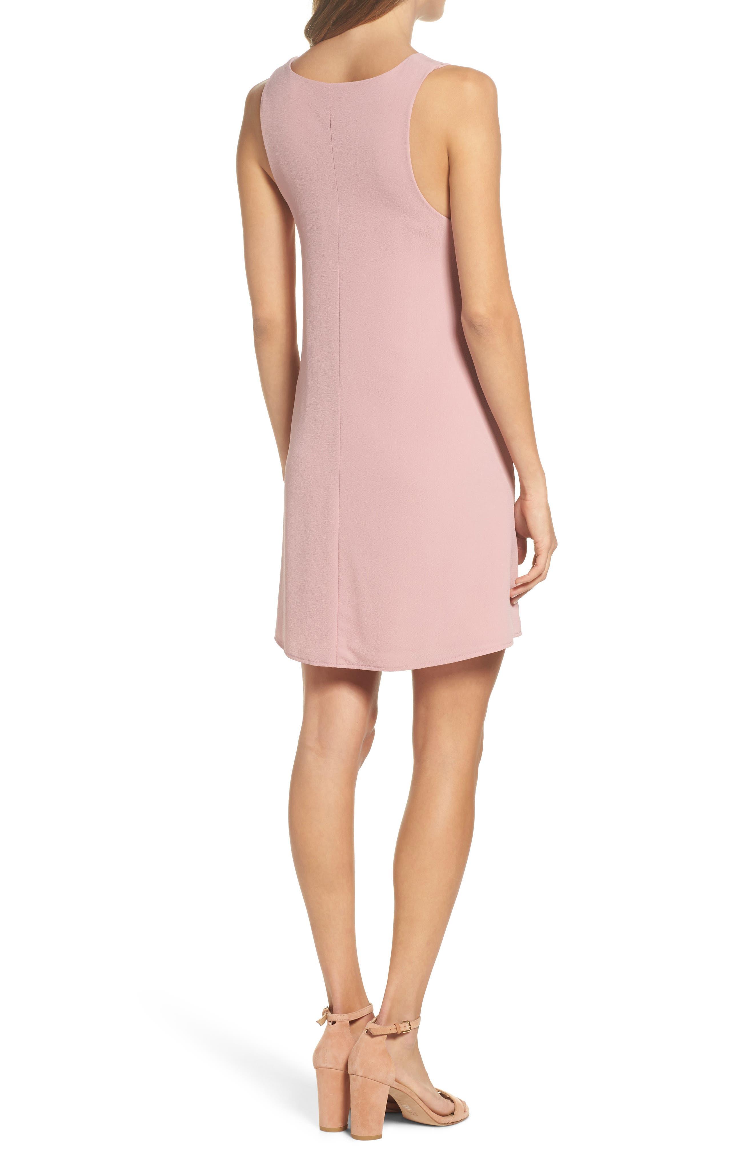Shift Dress,                             Alternate thumbnail 2, color,                             Blush