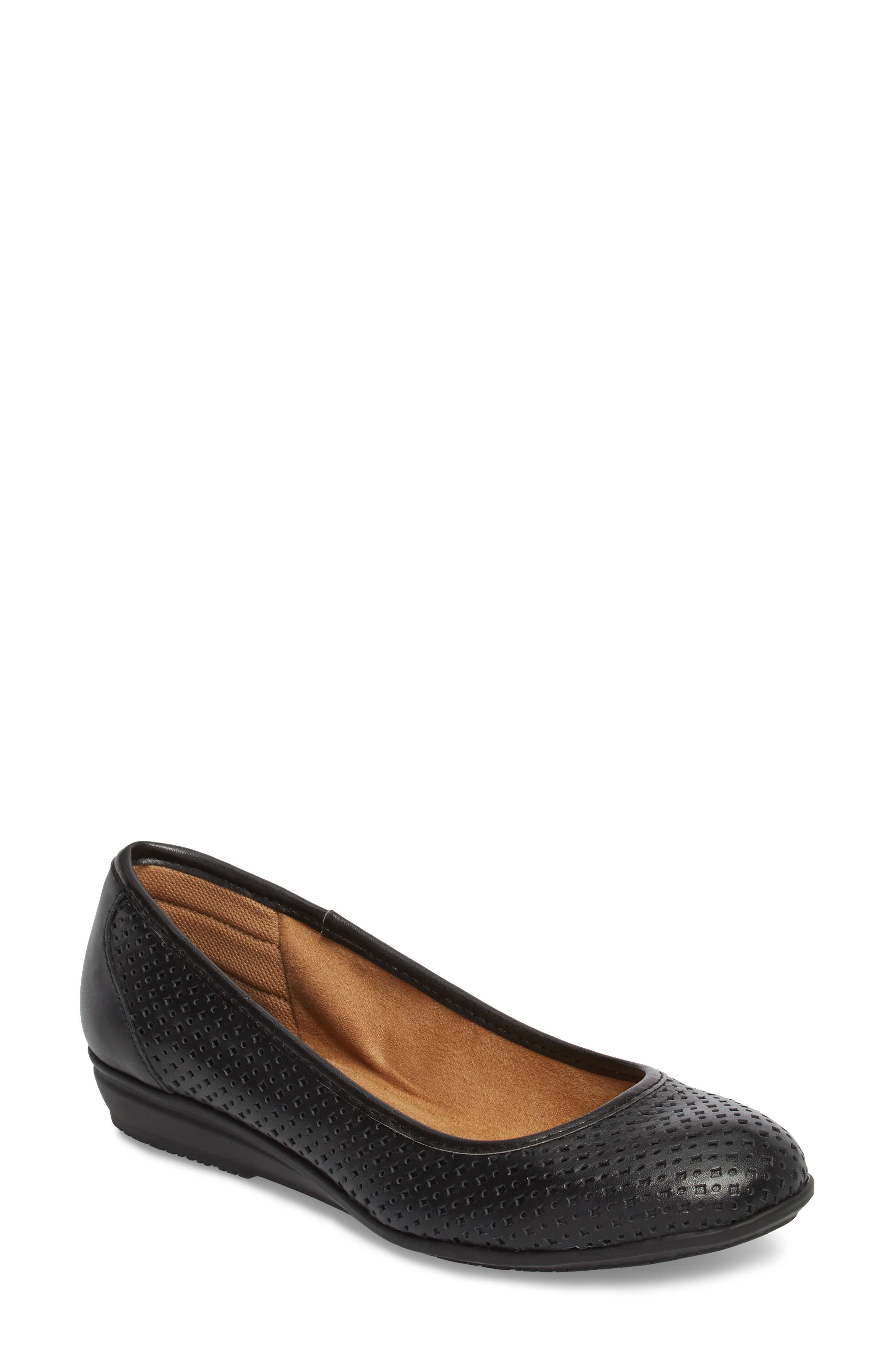 Electra Flat,                         Main,                         color, Black Leather