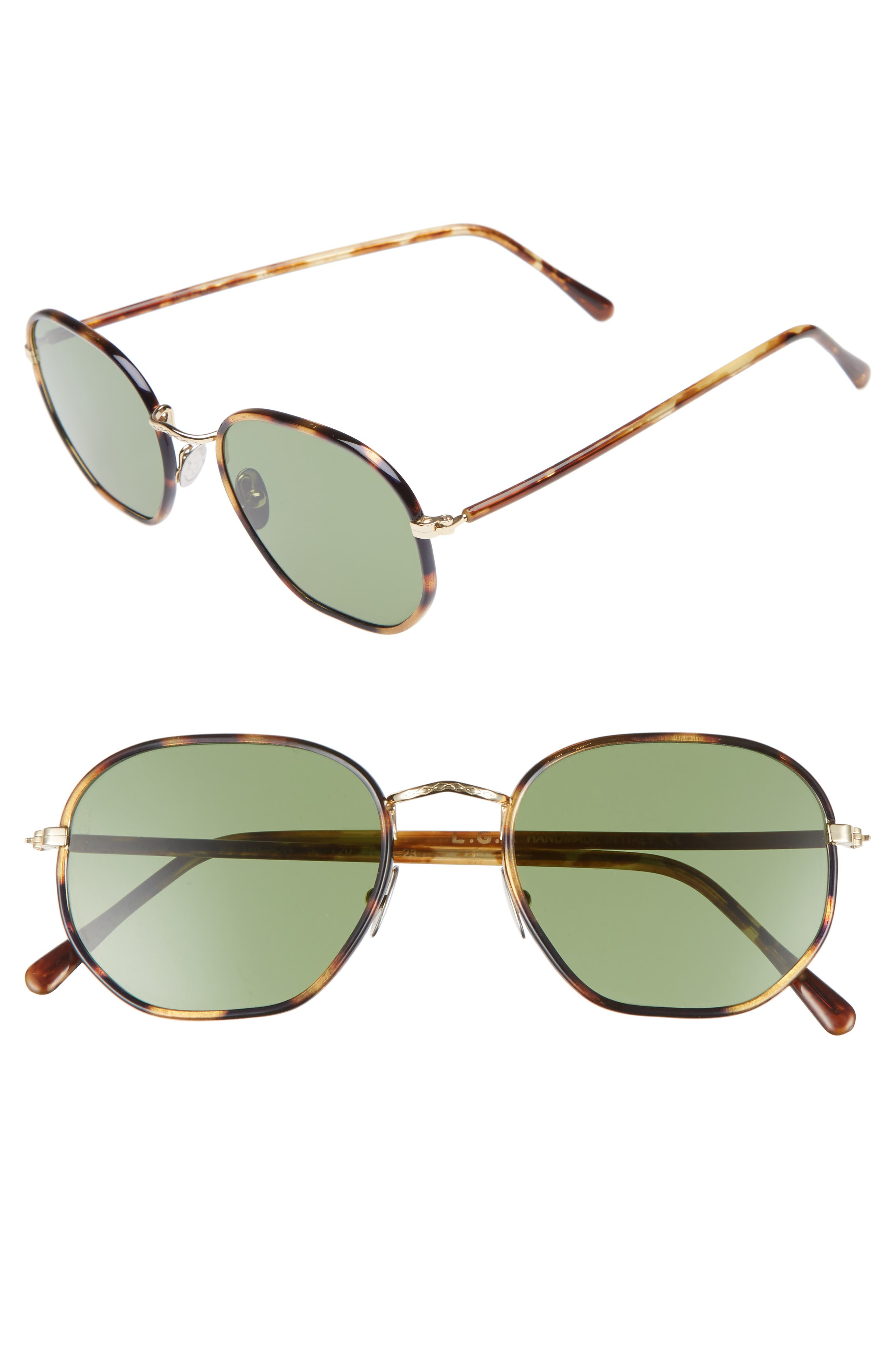 Wilson 52mm Sunglasses,                             Main thumbnail 1, color,                             Havana Tartarugato/ Green
