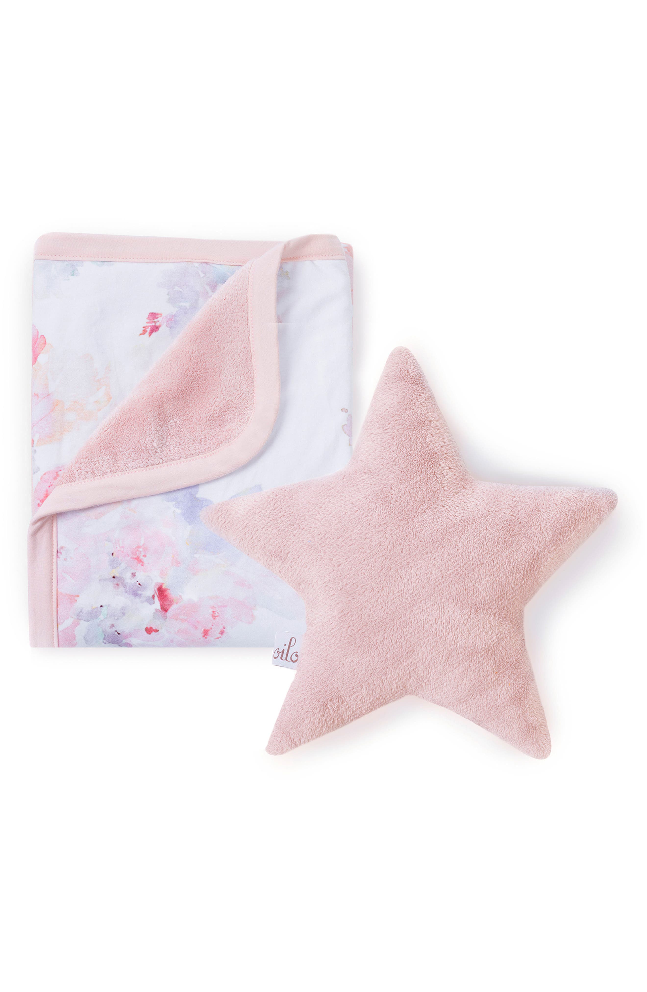 Prim Cuddle Blanket & Star Pillow Set,                             Main thumbnail 1, color,                             Prim