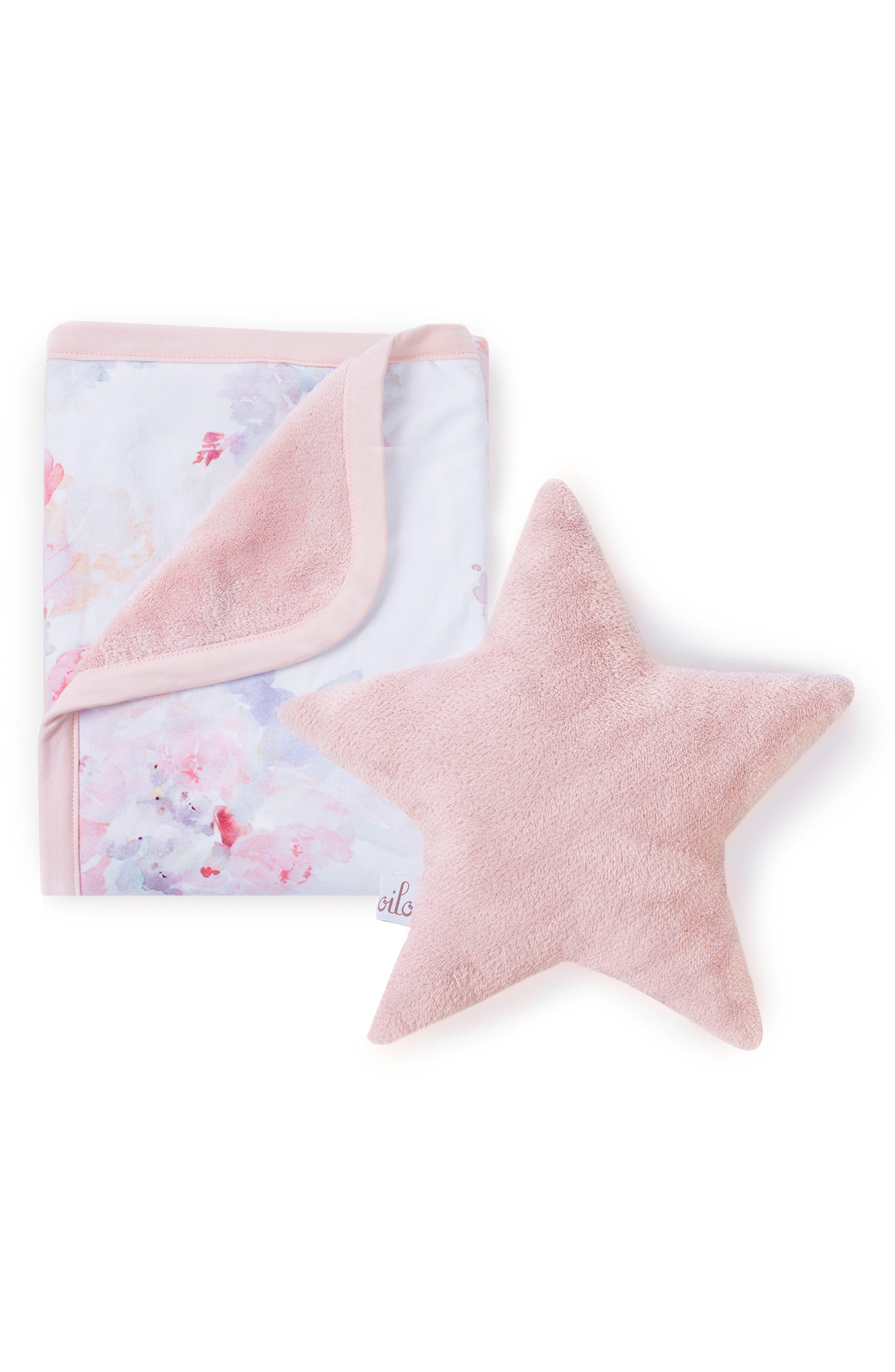 Prim Cuddle Blanket & Star Pillow Set,                         Main,                         color, Prim