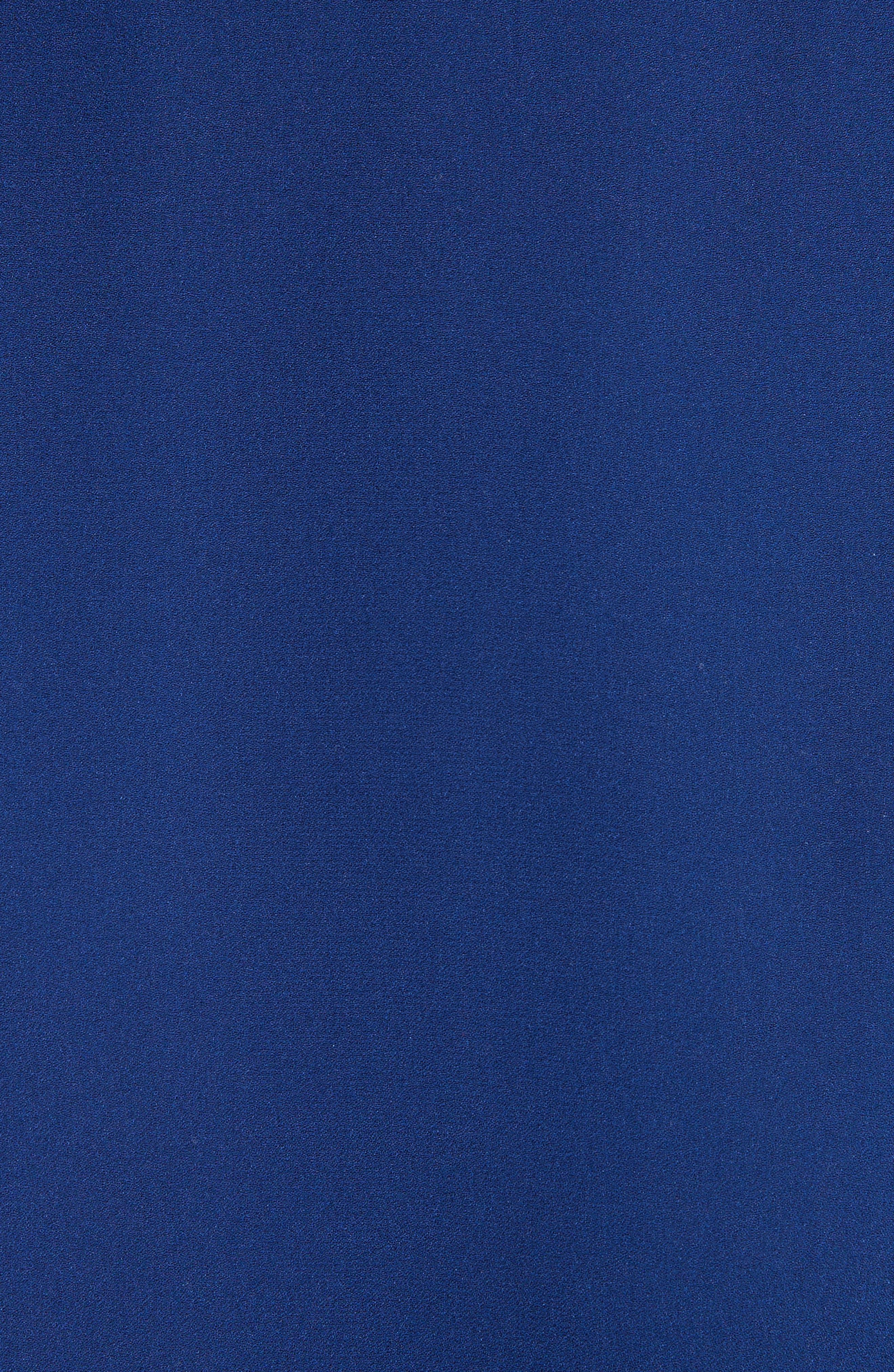 Gathered Silk Dress,                             Alternate thumbnail 5, color,                             Dark Cobalt