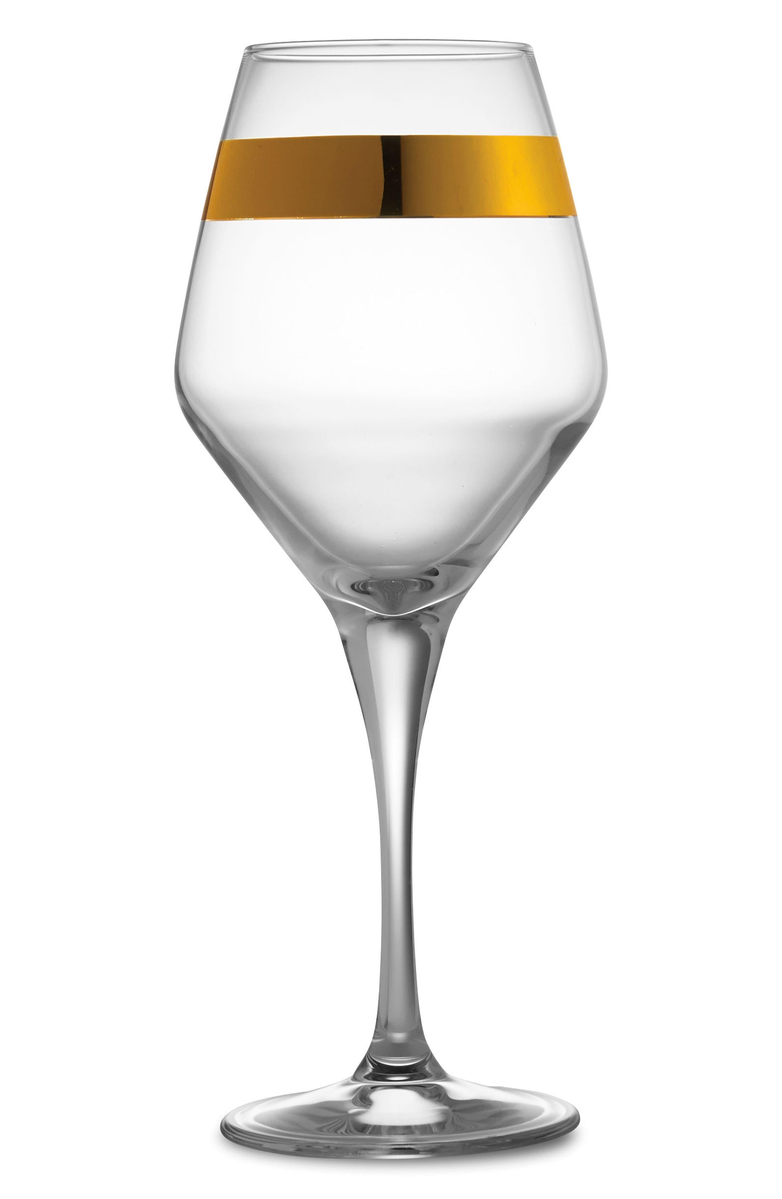 Semplice Water & Wine Glass,                         Main,                         color, Gold