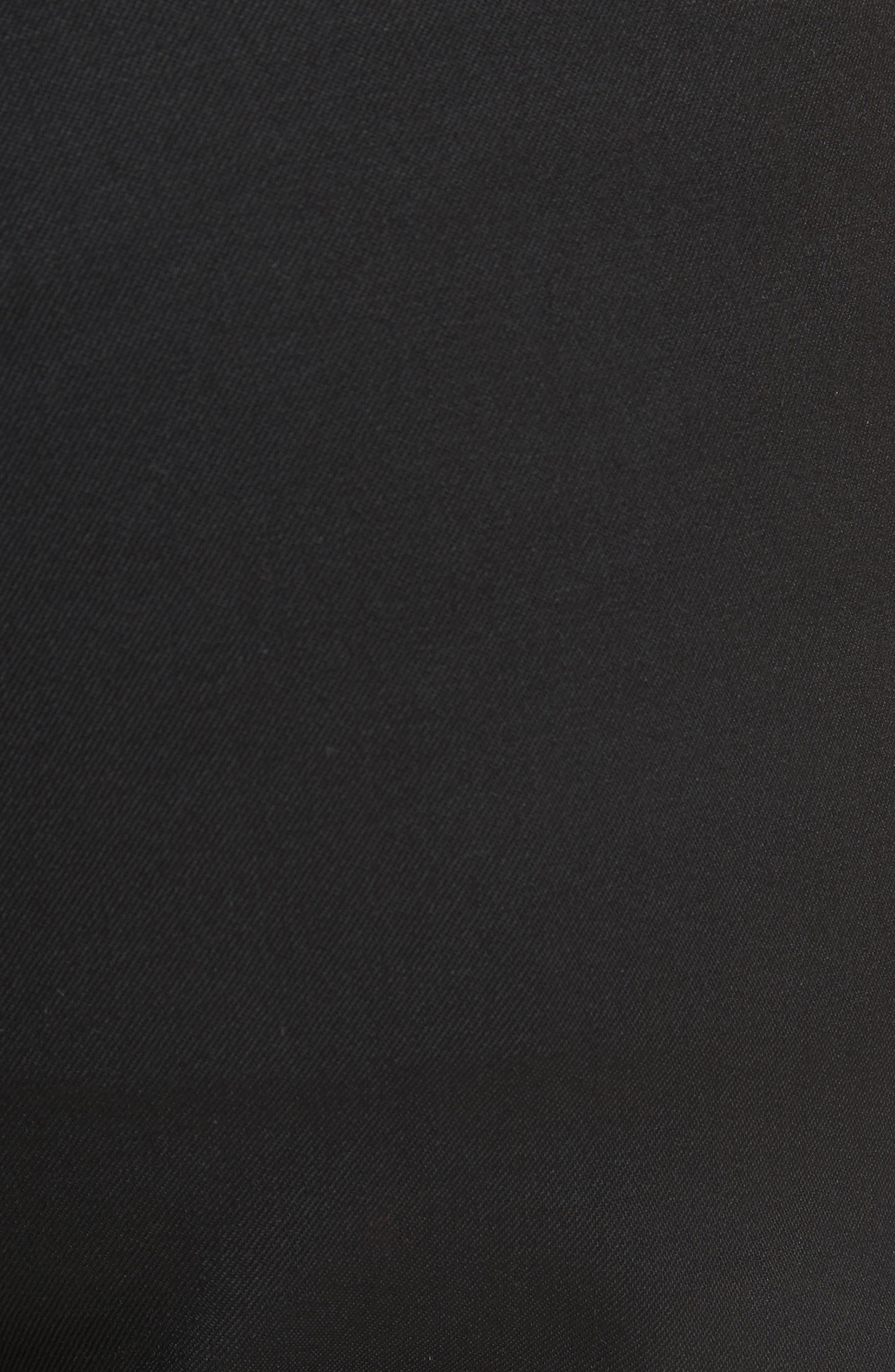 Straight Leg Wool Trousers,                             Alternate thumbnail 5, color,                             Black