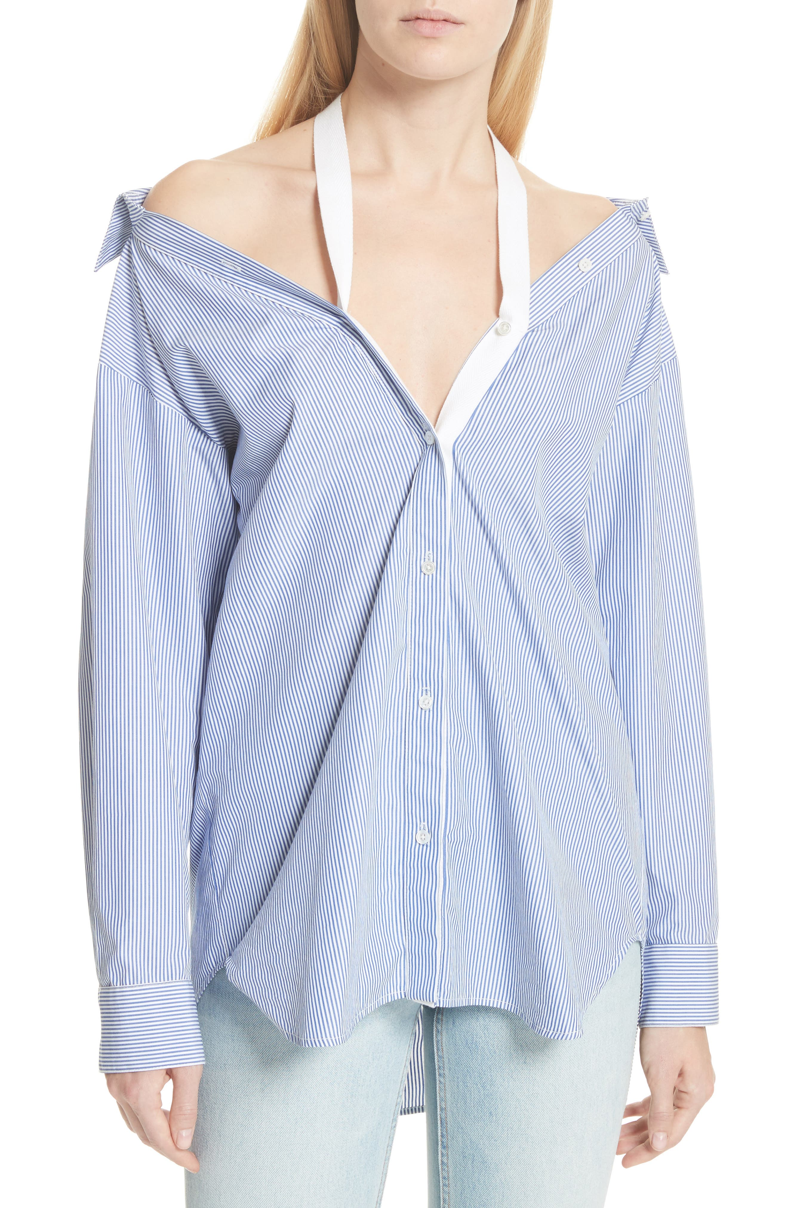 T by Alexander Wang Stripe Poplin Shirt