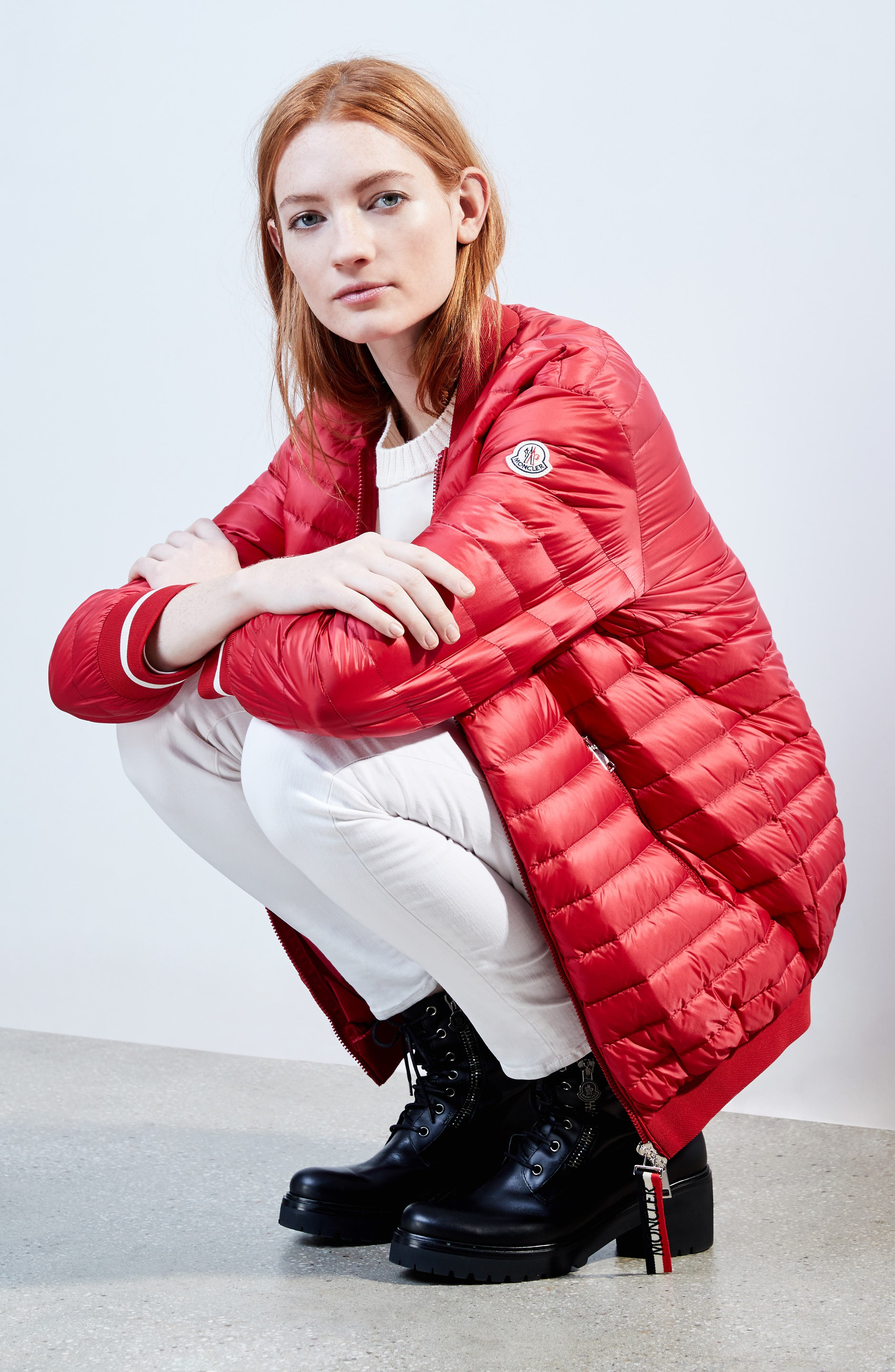 Charoite Water Resistant Down Puffer Coat,                             Alternate thumbnail 2, color,                             Red