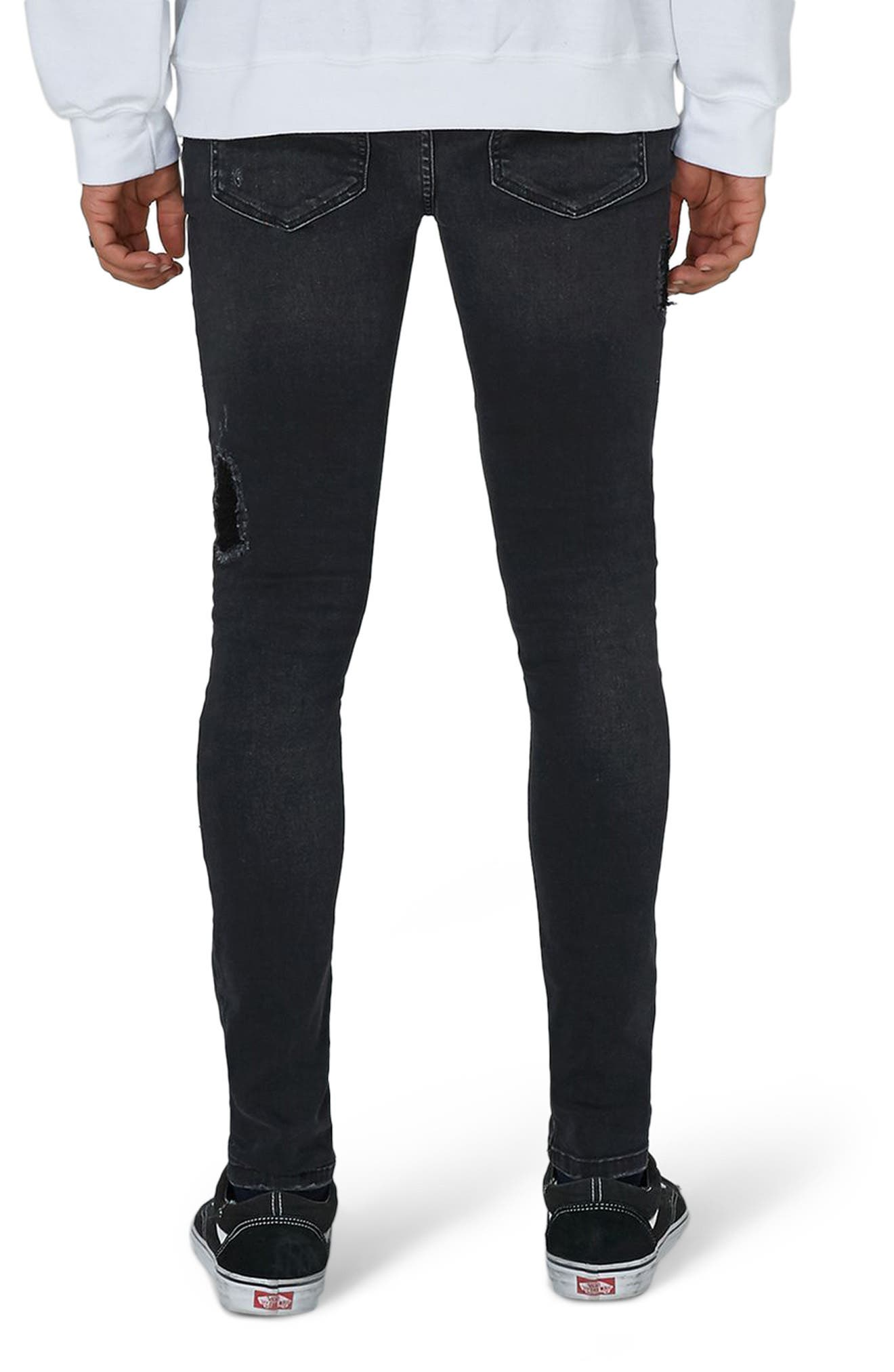 Alternate Image 2  - Topman Repair Spray-On Skinny Fit Jeans