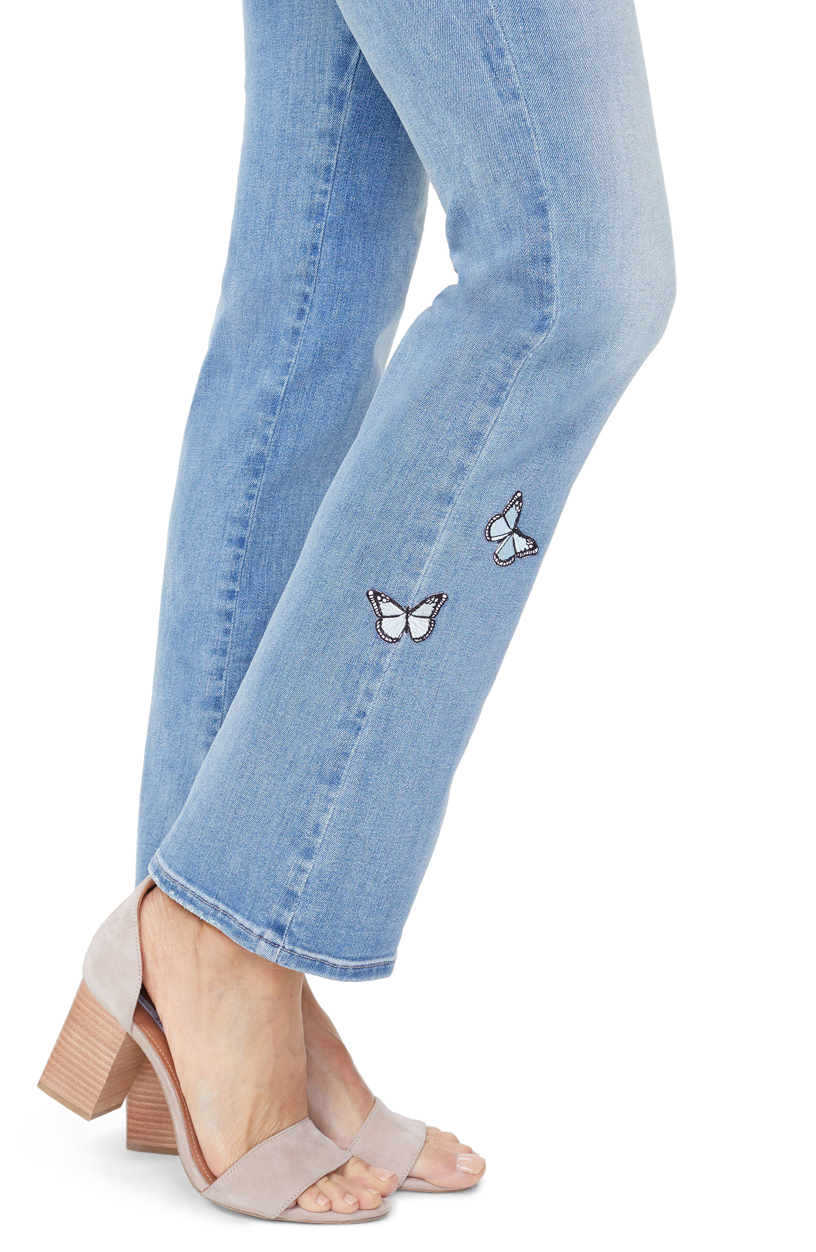 Barbara Butterfly Bootcut Jeans,                             Alternate thumbnail 3, color,                             Dream State