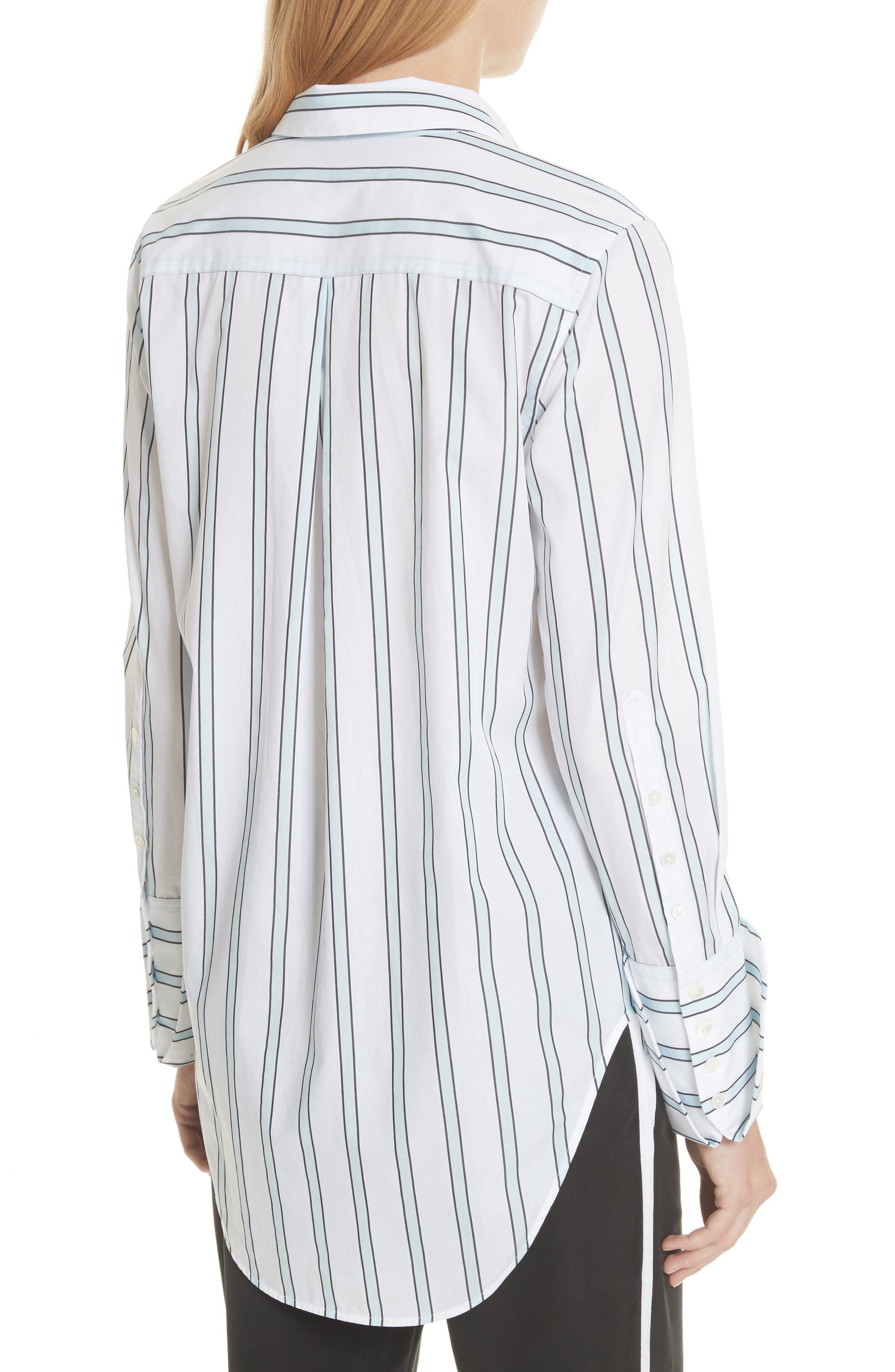 Essential Neopolitan Cuff Stripe Shirt,                             Alternate thumbnail 2, color,                             Bright White-Cool Breeze